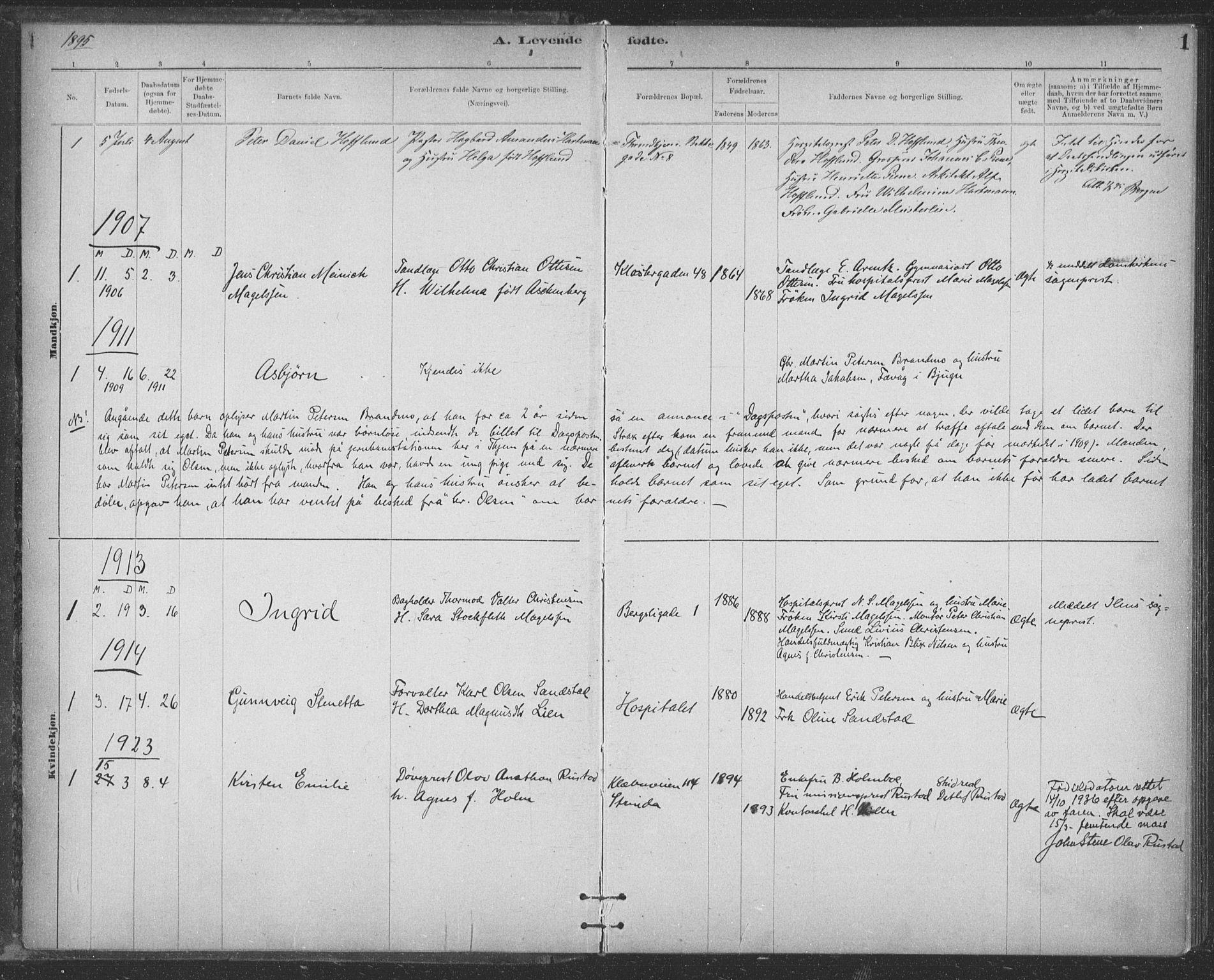 SAT, Ministerialprotokoller, klokkerbøker og fødselsregistre - Sør-Trøndelag, 623/L0470: Ministerialbok nr. 623A04, 1884-1938, s. 1