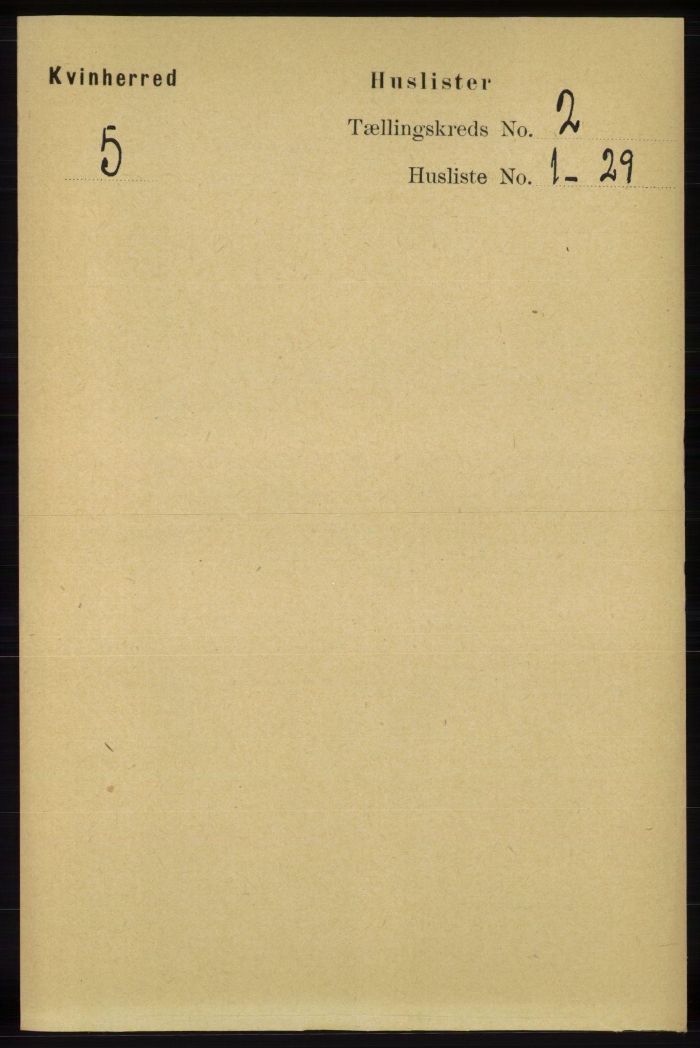 RA, Folketelling 1891 for 1224 Kvinnherad herred, 1891, s. 592