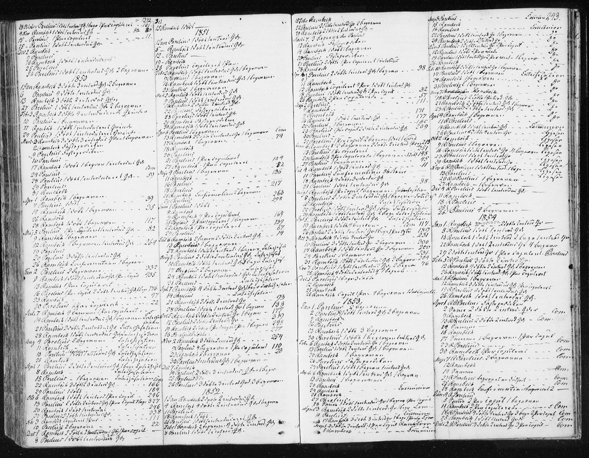 SAT, Ministerialprotokoller, klokkerbøker og fødselsregistre - Sør-Trøndelag, 674/L0869: Ministerialbok nr. 674A01, 1829-1860, s. 243