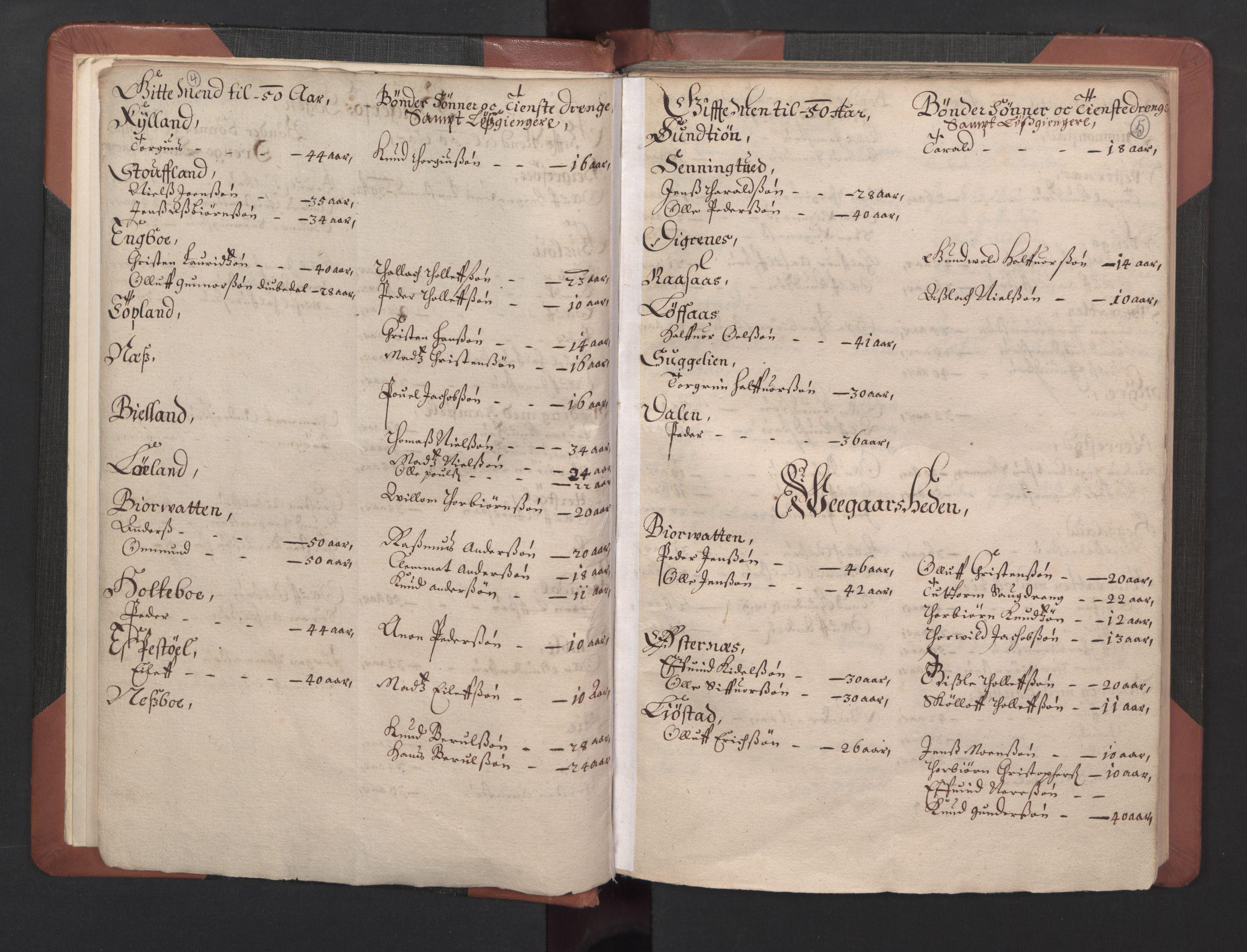 RA, Fogdenes og sorenskrivernes manntall 1664-1666, nr. 8: Råbyggelaget fogderi, 1664-1665, s. 4-5