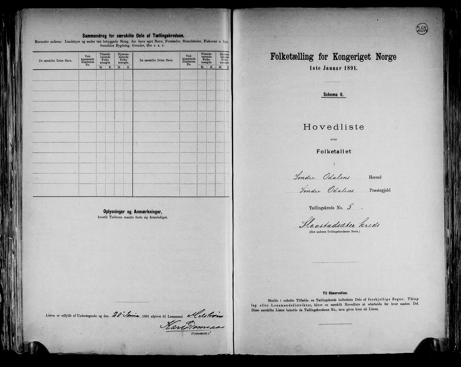 RA, Folketelling 1891 for 0419 Sør-Odal herred, 1891, s. 14