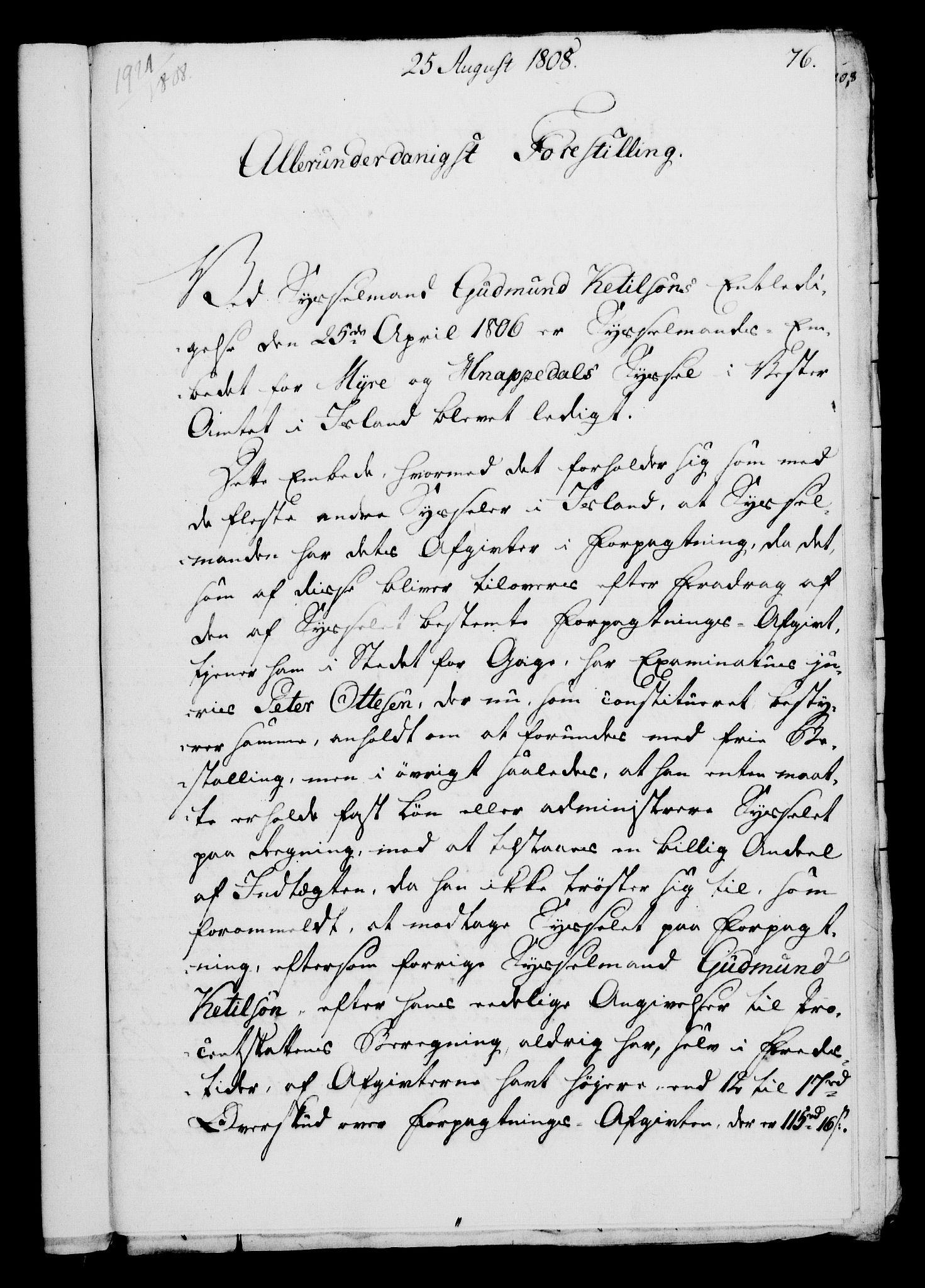 RA, Rentekammeret, Kammerkanselliet, G/Gf/Gfa/L0090: Norsk relasjons- og resolusjonsprotokoll (merket RK 52.90), 1808, s. 381