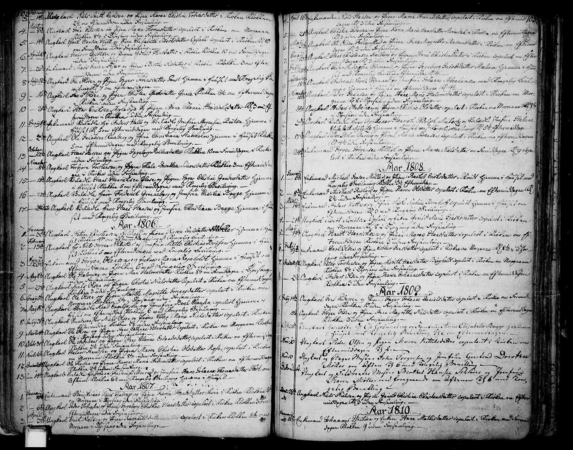 SAKO, Skien kirkebøker, F/Fa/L0004: Ministerialbok nr. 4, 1792-1814, s. 102-103