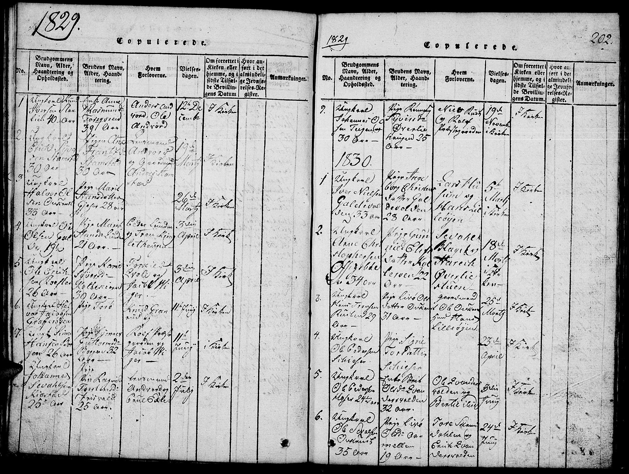 SAH, Lom prestekontor, L/L0001: Klokkerbok nr. 1, 1815-1836, s. 202