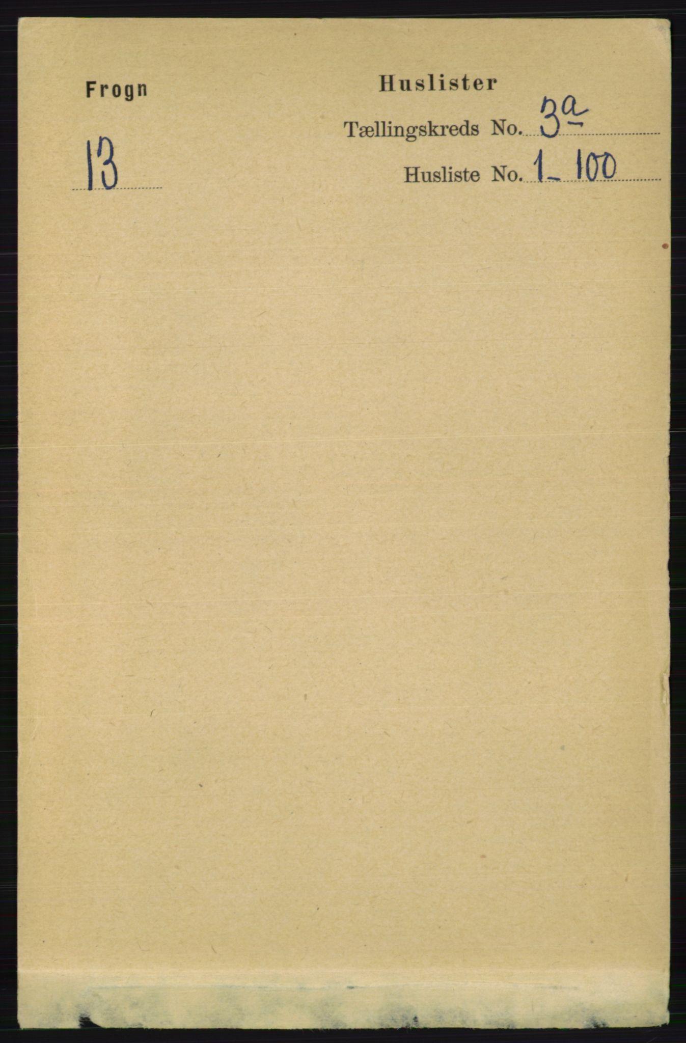 RA, Folketelling 1891 for 0215 Frogn herred, 1891, s. 1803