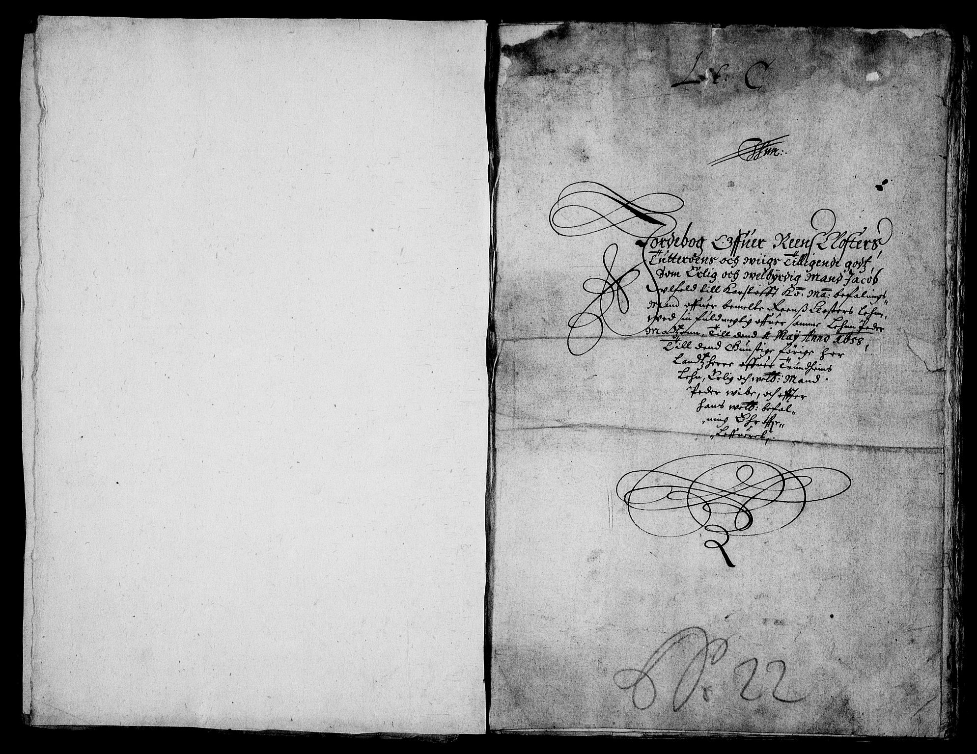 RA, Rentekammeret inntil 1814, Realistisk ordnet avdeling, On/L0006: [Jj 7]: Jordebøker og dokumenter over det sekulariserte kirke- og klostergodset:, 1658-1682, s. 109
