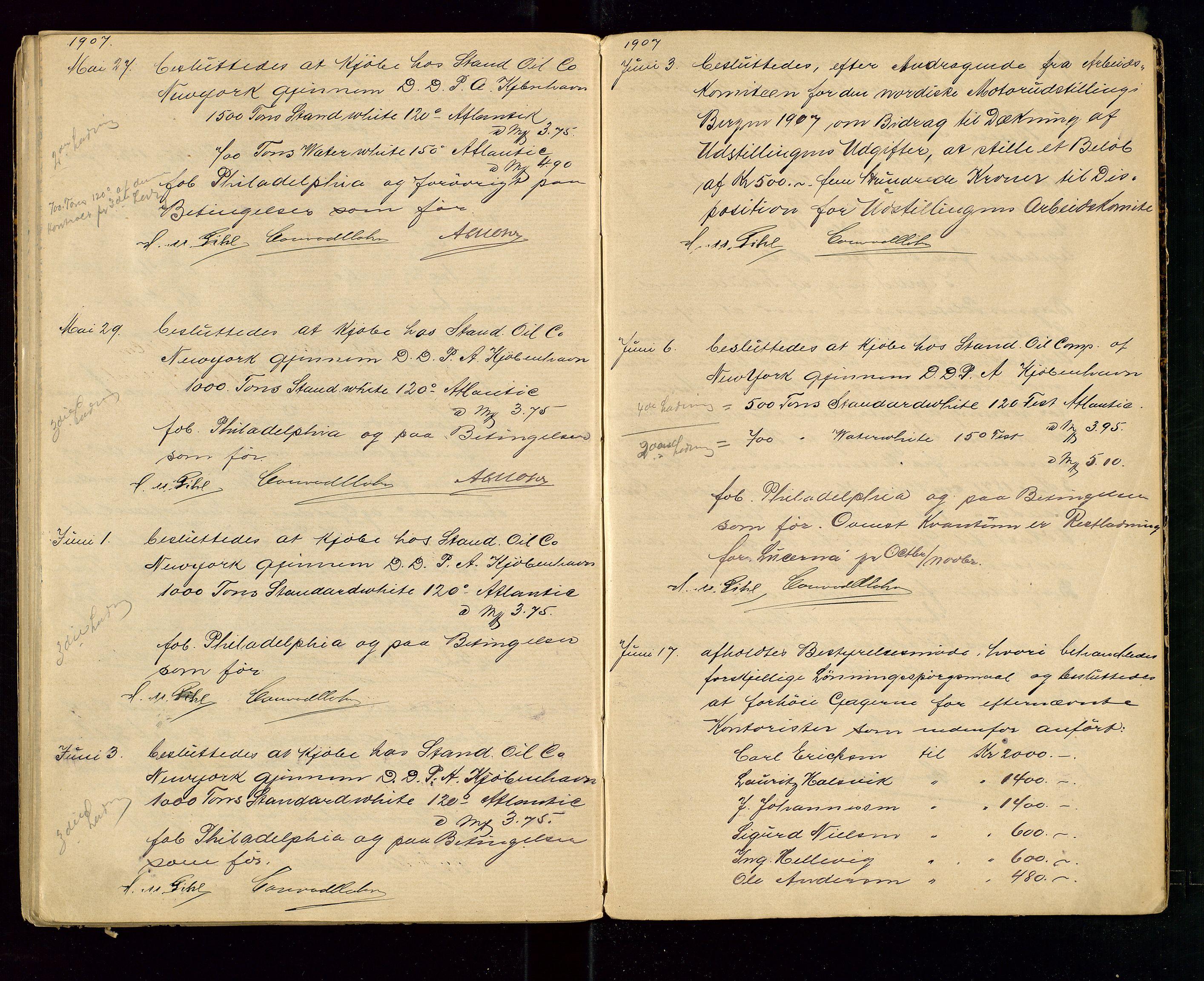 SAST, PA 1533 - A/S Vestlandske Petroleumscompani, A/Aa/L0001: Generalforsamlinger og styreprotokoller, 1890-1907, s. 69