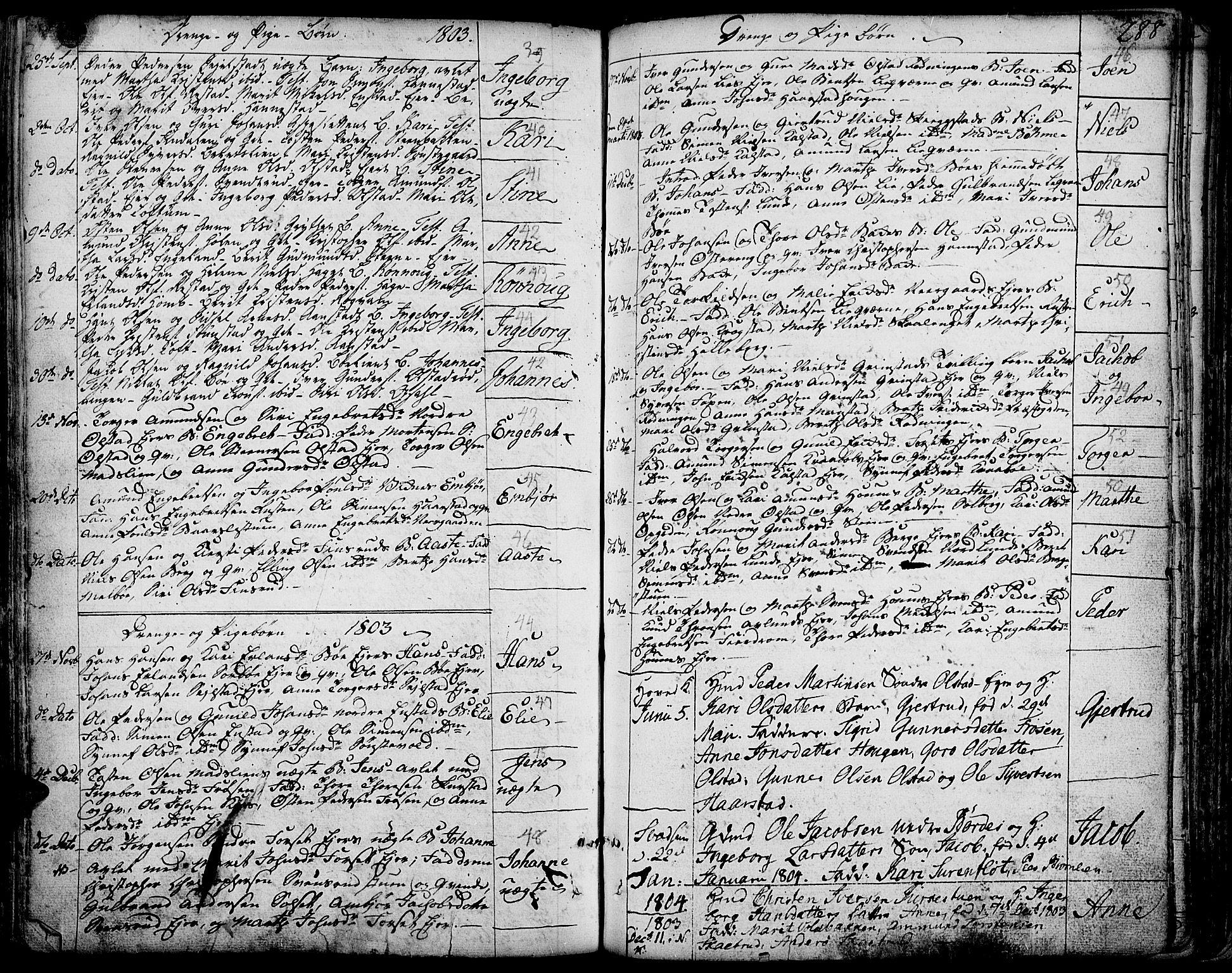 SAH, Gausdal prestekontor, Ministerialbok nr. 3, 1758-1809, s. 288