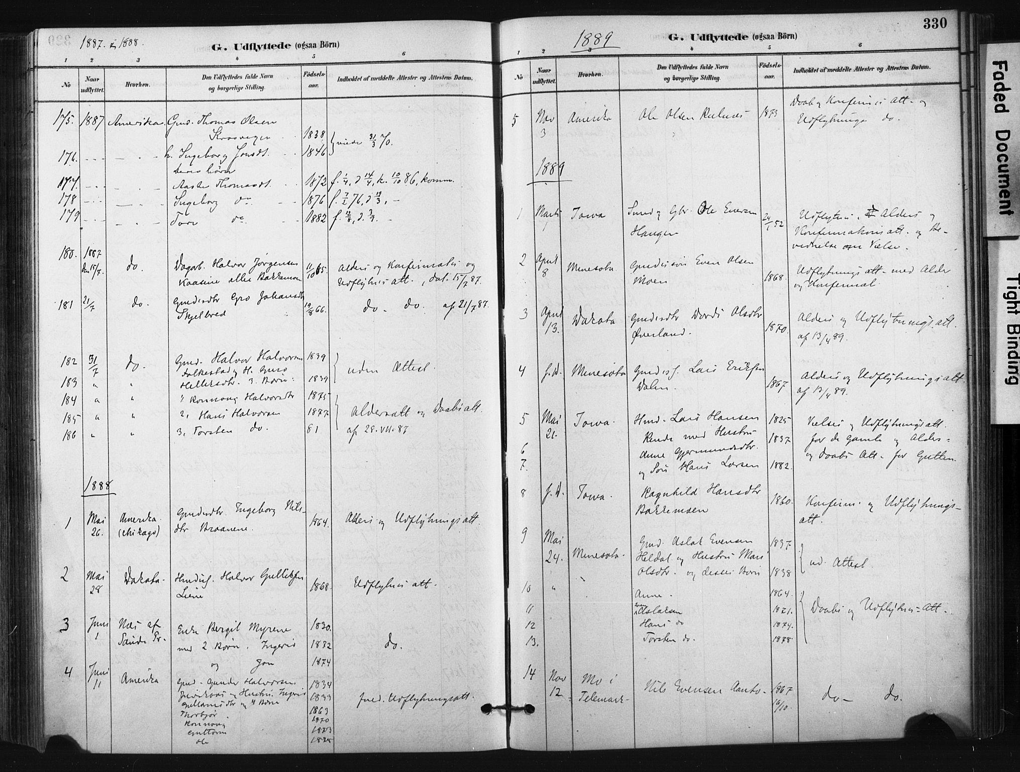 SAKO, Bø kirkebøker, F/Fa/L0010: Ministerialbok nr. 10, 1880-1892, s. 330