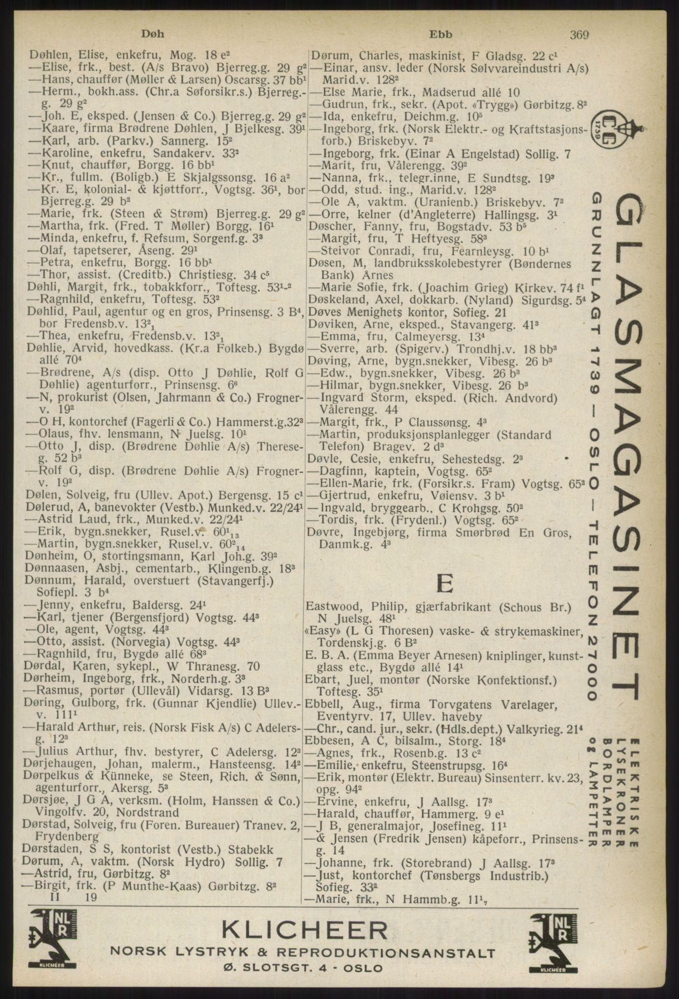 RA, Oslo adressebok (publikasjon)*, 1937, s. 369