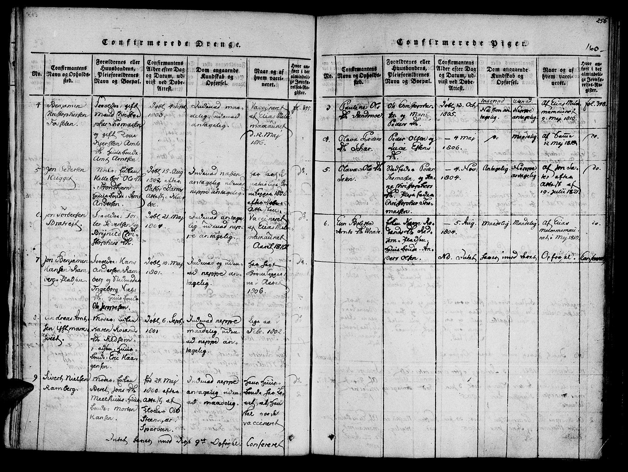 SAT, Ministerialprotokoller, klokkerbøker og fødselsregistre - Nord-Trøndelag, 741/L0387: Ministerialbok nr. 741A03 /2, 1817-1822, s. 160