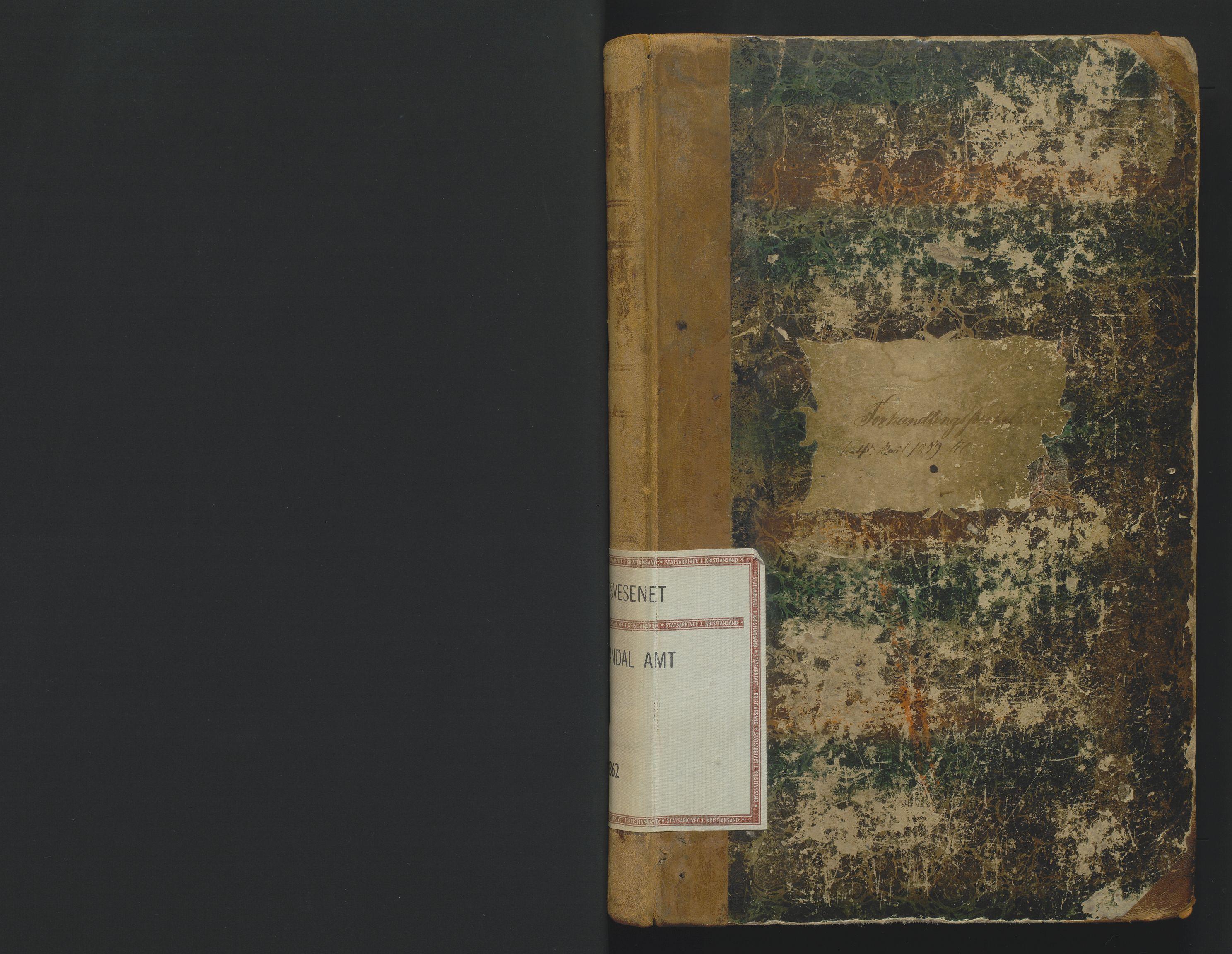 SAK, Utskiftningsformannen i Lister og Mandal amt, F/Fa/Faa/L0001: Utskiftningsprotokoll med register nr 1, 1859-1862