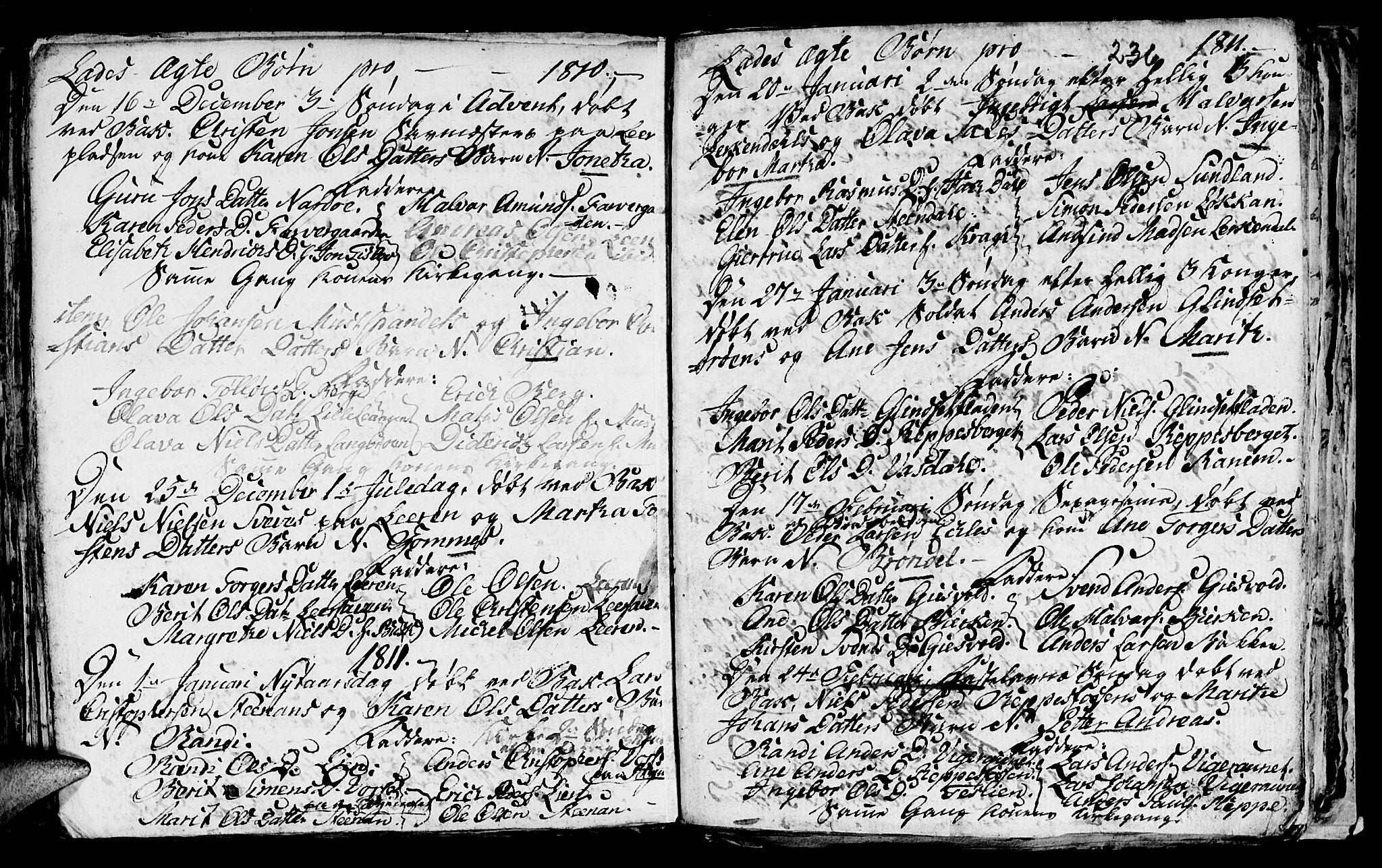 SAT, Ministerialprotokoller, klokkerbøker og fødselsregistre - Sør-Trøndelag, 606/L0305: Klokkerbok nr. 606C01, 1757-1819, s. 236
