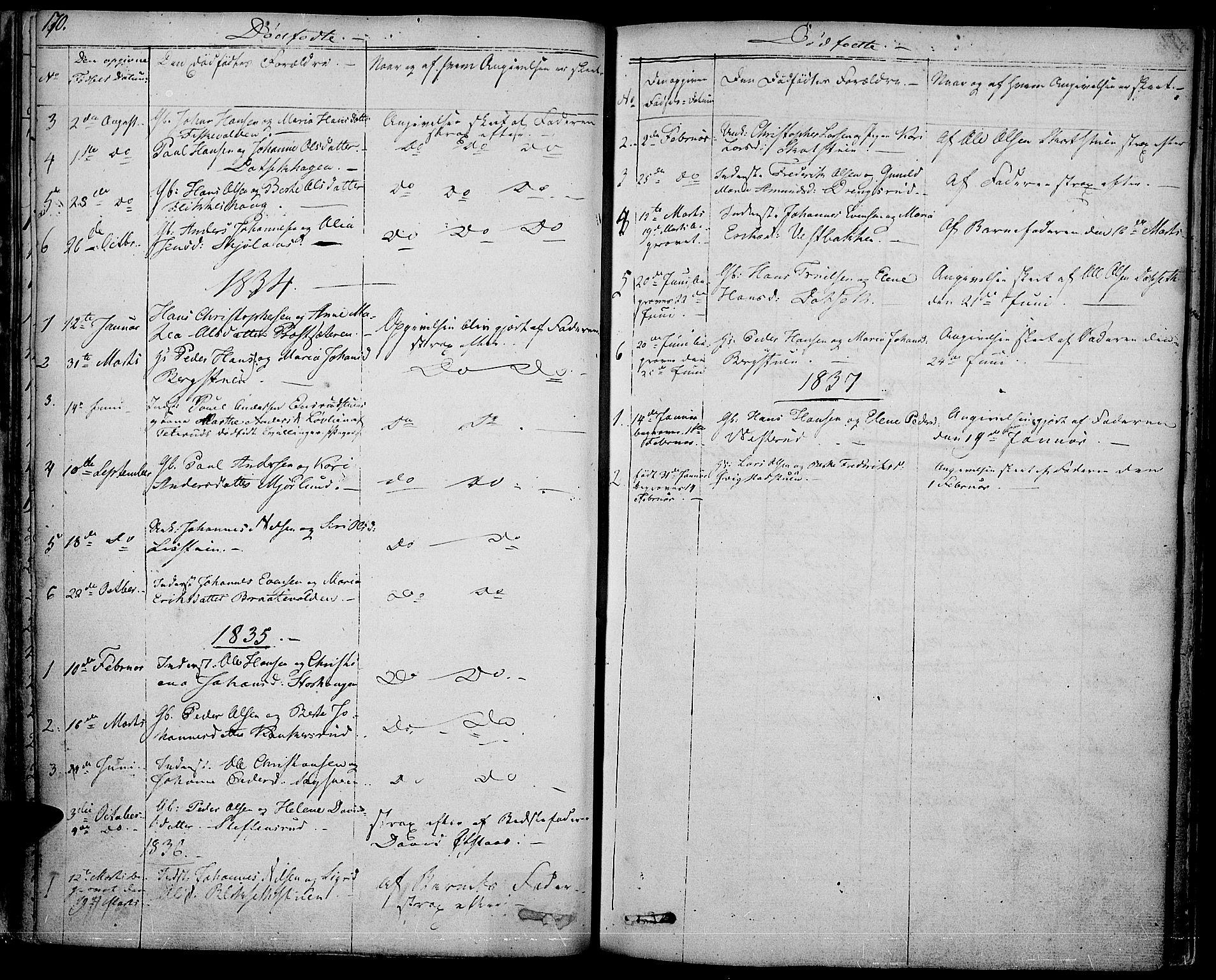 SAH, Vestre Toten prestekontor, Ministerialbok nr. 2, 1825-1837, s. 170