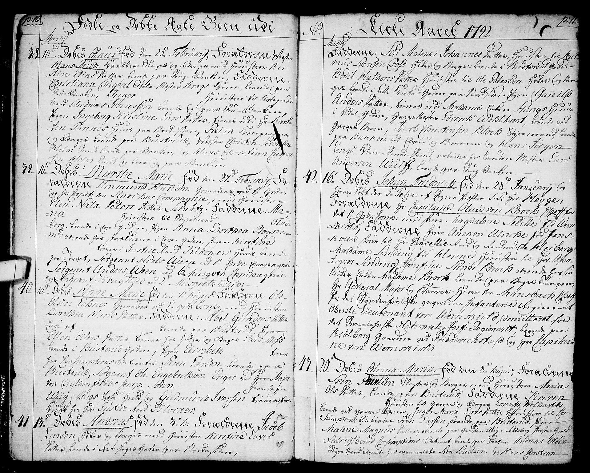 SAO, Halden prestekontor Kirkebøker, F/Fa/L0002: Ministerialbok nr. I 2, 1792-1812, s. 10-11