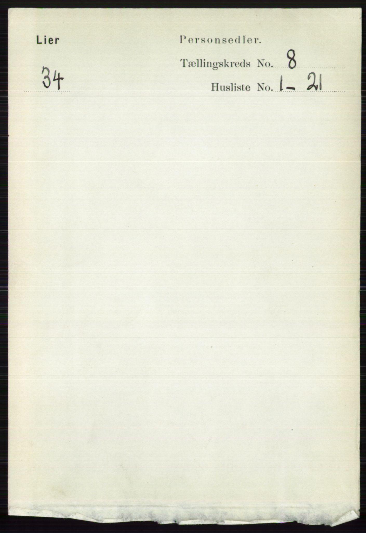 RA, Folketelling 1891 for 0626 Lier herred, 1891, s. 5060