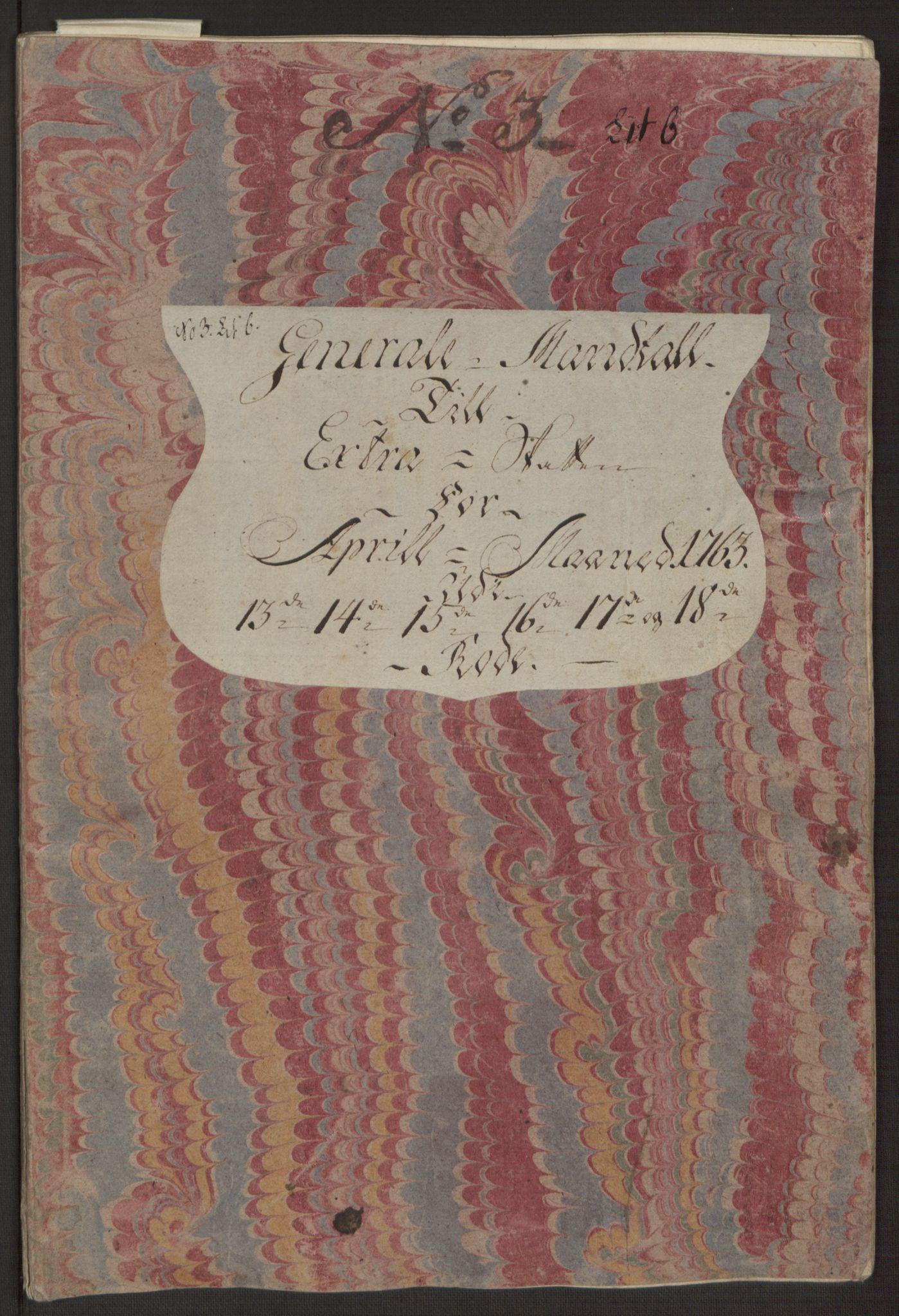 RA, Rentekammeret inntil 1814, Reviderte regnskaper, Byregnskaper, R/Rp/L0366: [P20] Kontribusjonsregnskap, 1763, s. 102