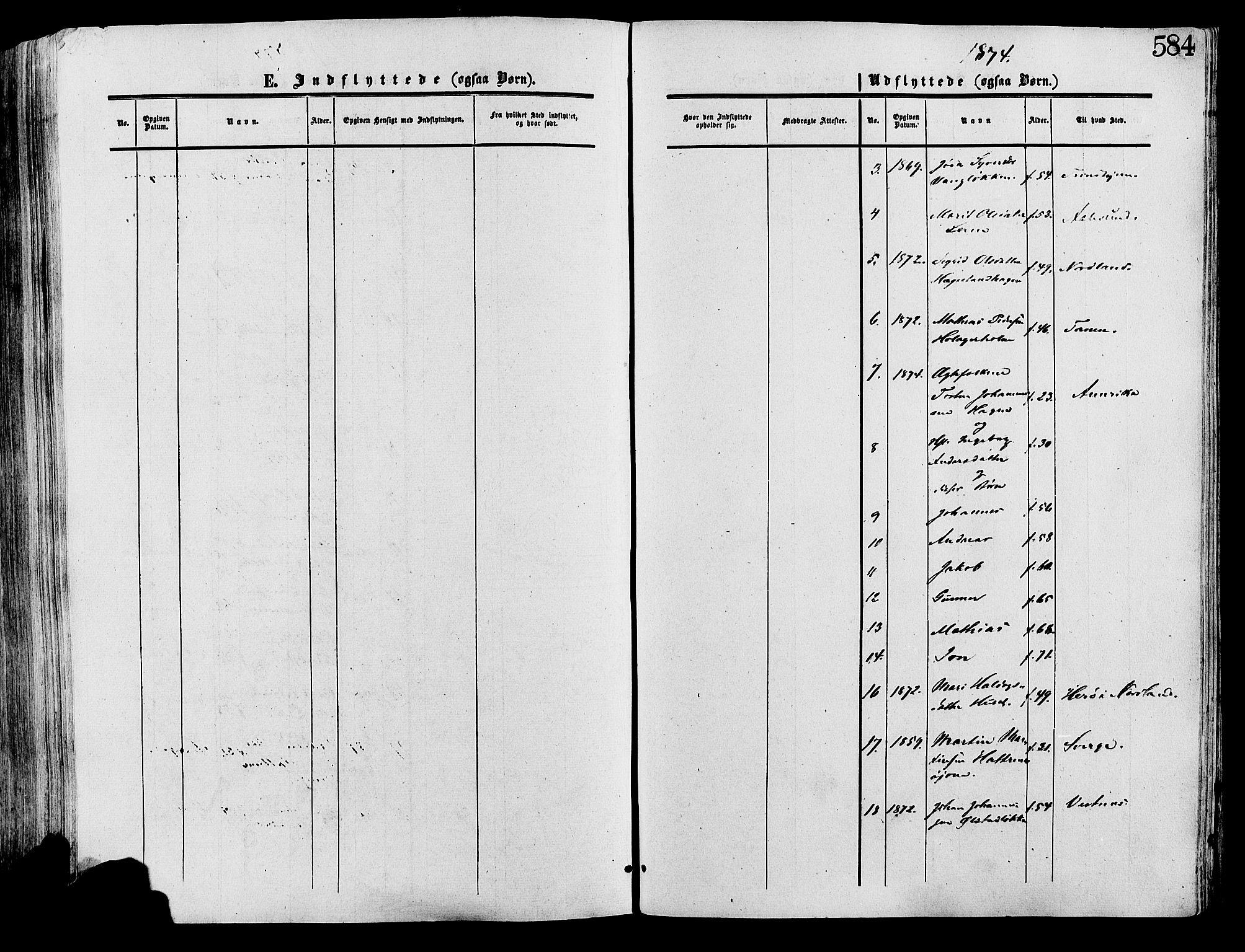SAH, Lesja prestekontor, Ministerialbok nr. 8, 1854-1880, s. 584