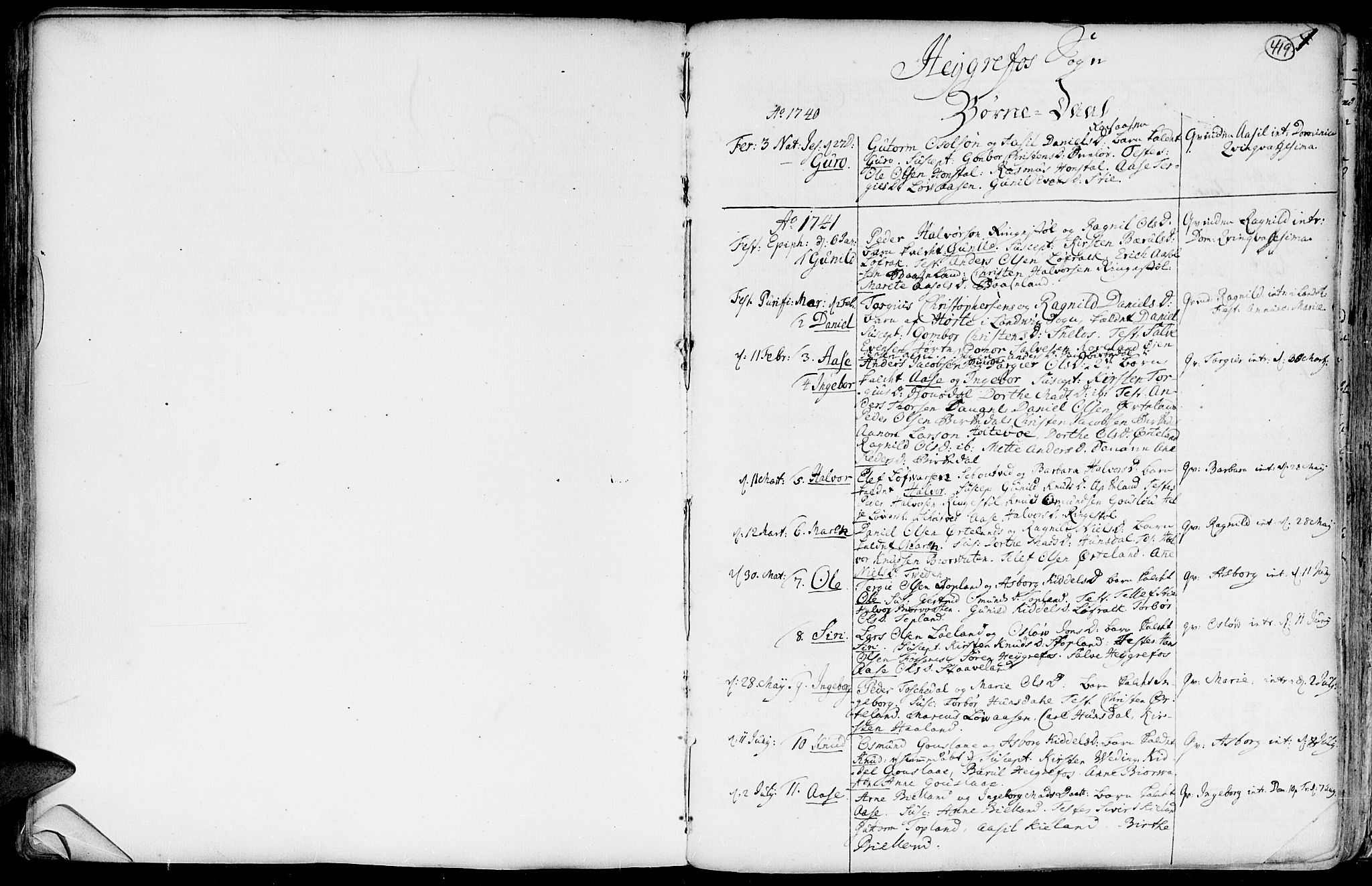 SAK, Hommedal sokneprestkontor, F/Fa/Fab/L0002: Ministerialbok nr. A 2 /3, 1740-1821, s. 419