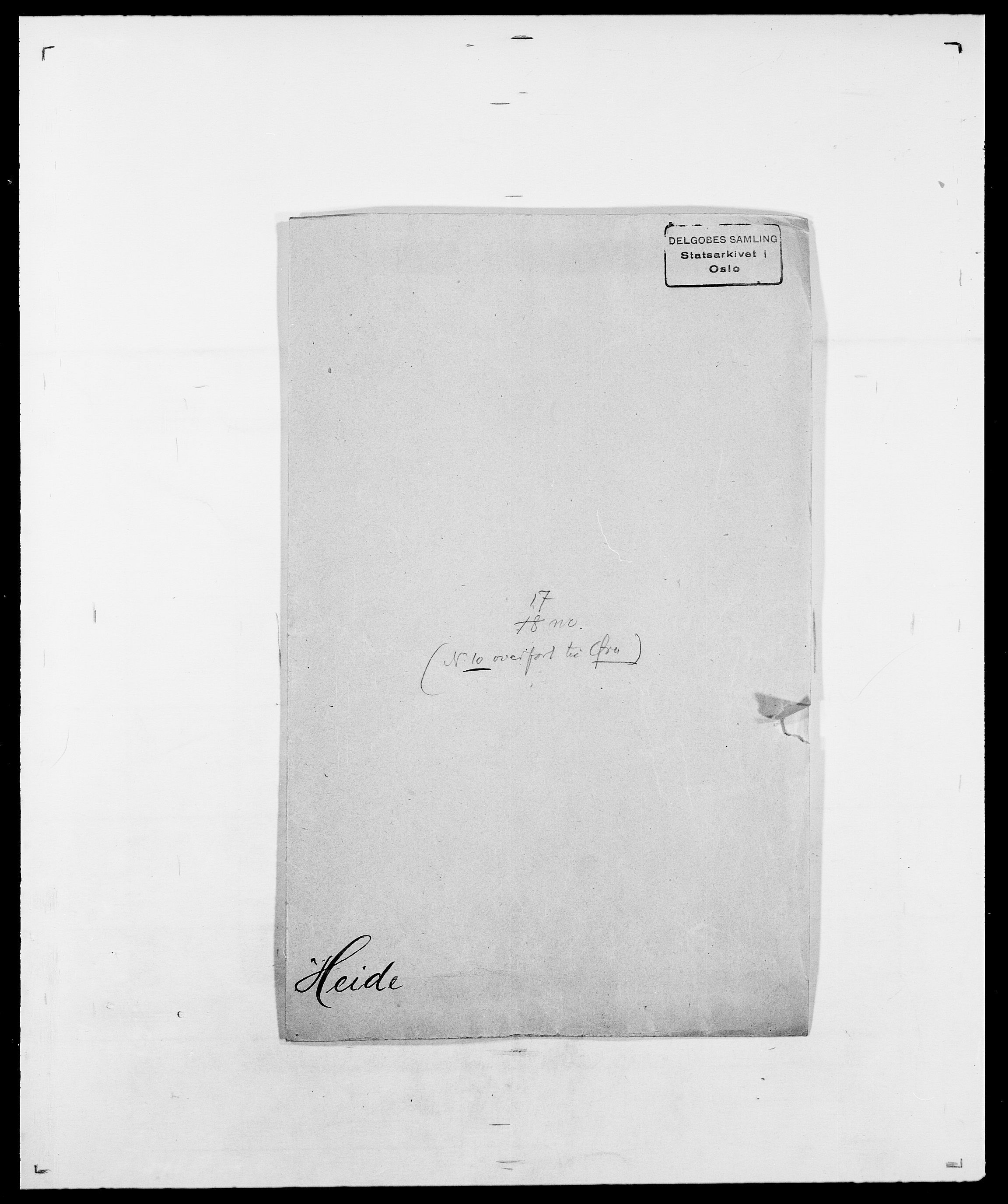 SAO, Delgobe, Charles Antoine - samling, D/Da/L0016: Hamborg - Hektoen, s. 788