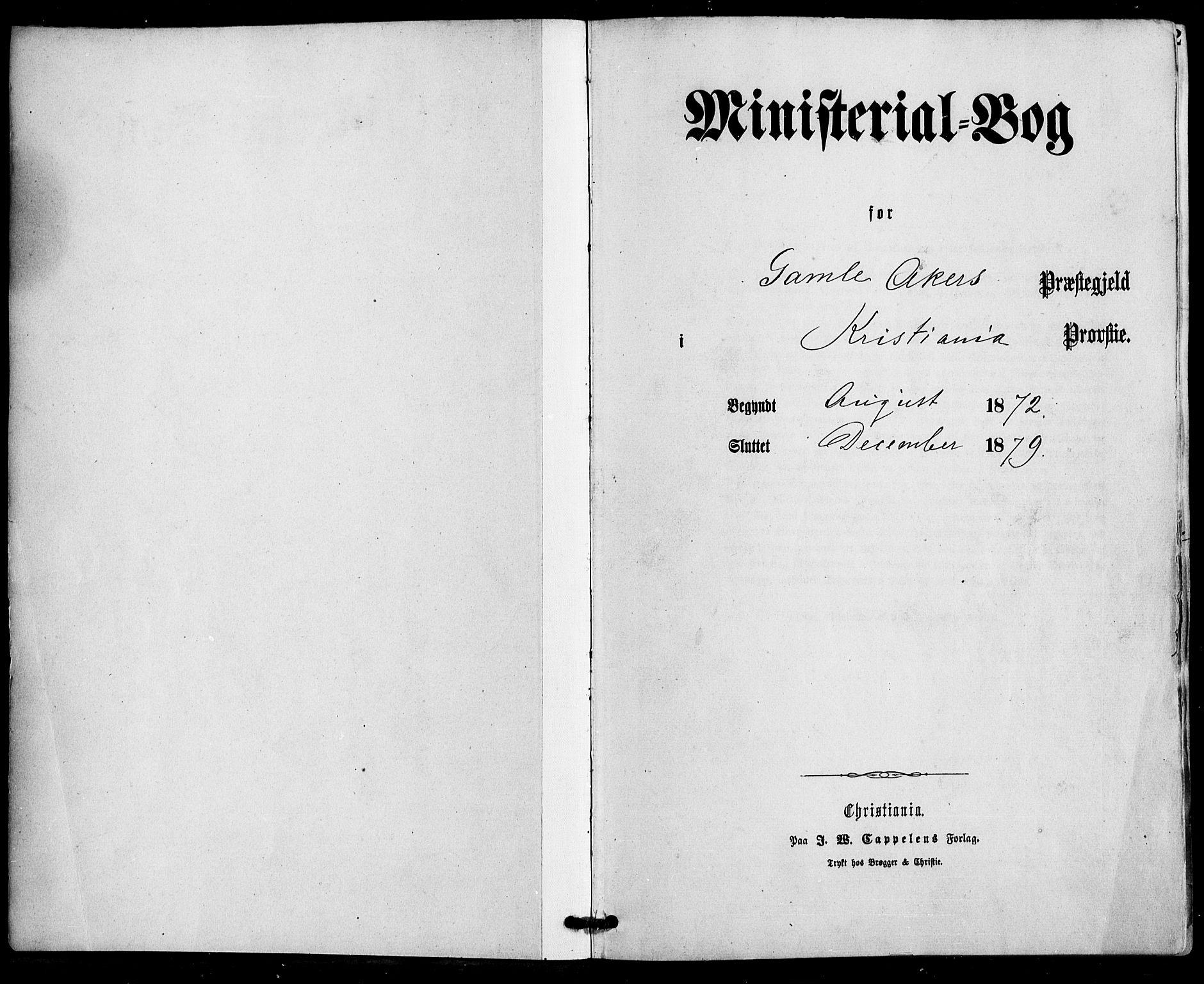 SAO, Gamle Aker prestekontor Kirkebøker, F/L0004: Ministerialbok nr. 4, 1872-1879