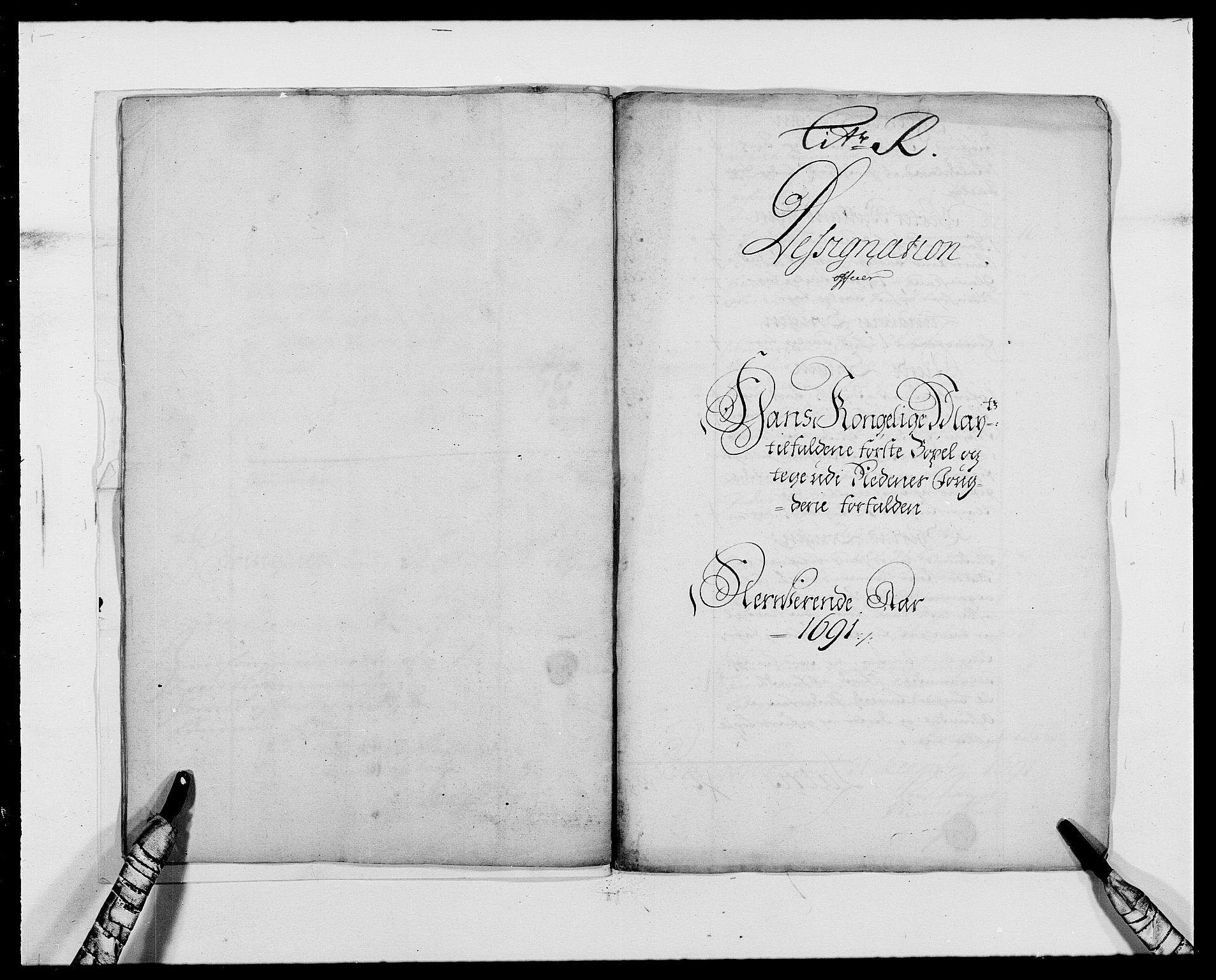 RA, Rentekammeret inntil 1814, Reviderte regnskaper, Fogderegnskap, R39/L2311: Fogderegnskap Nedenes, 1690-1692, s. 12