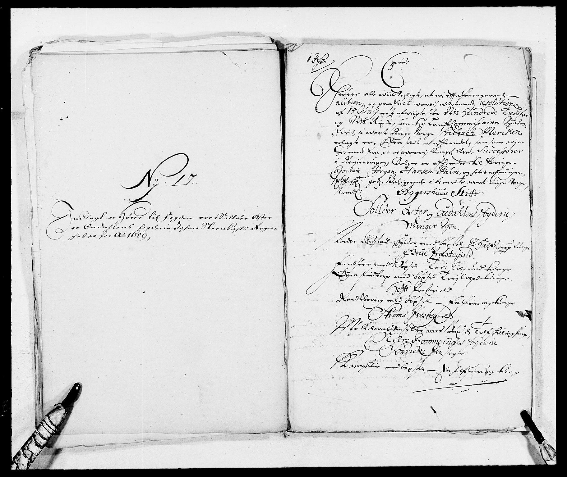 RA, Rentekammeret inntil 1814, Reviderte regnskaper, Fogderegnskap, R13/L0827: Fogderegnskap Solør, Odal og Østerdal, 1689, s. 393
