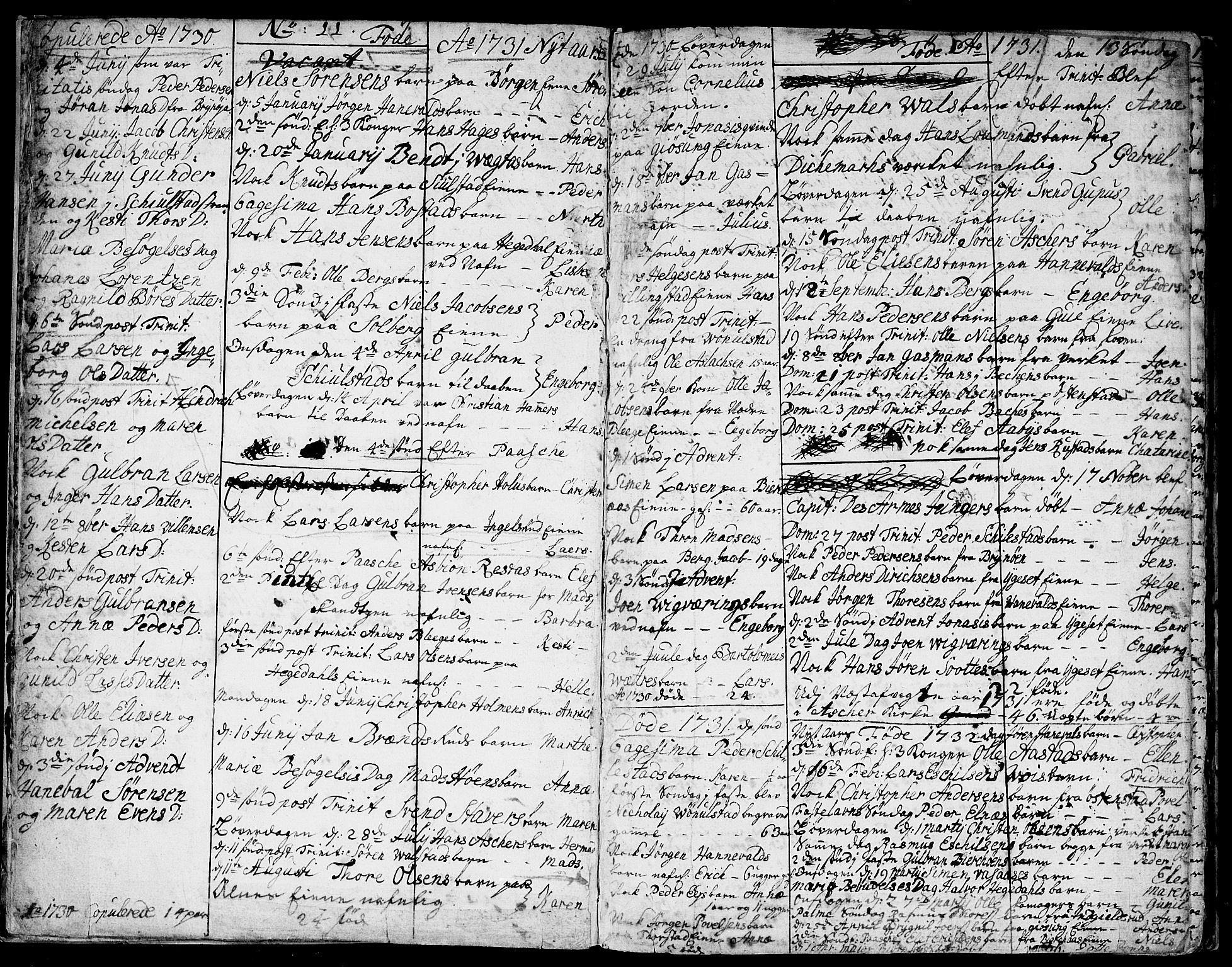 SAO, Asker prestekontor Kirkebøker, F/Fa/L0001: Ministerialbok nr. I 1, 1726-1744, s. 6