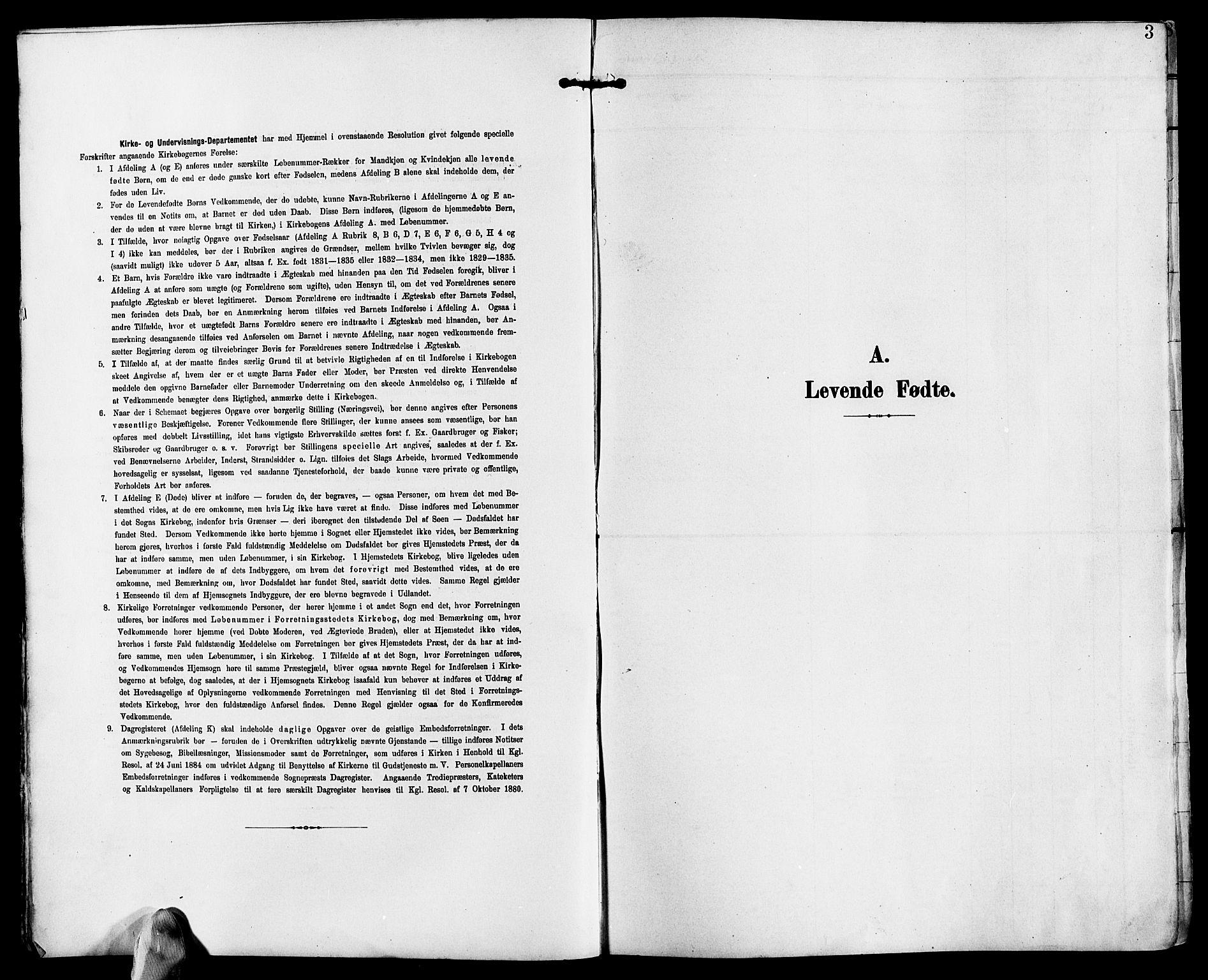 SAK, Fjære sokneprestkontor, F/Fb/L0012: Klokkerbok nr. B 12, 1902-1925, s. 3