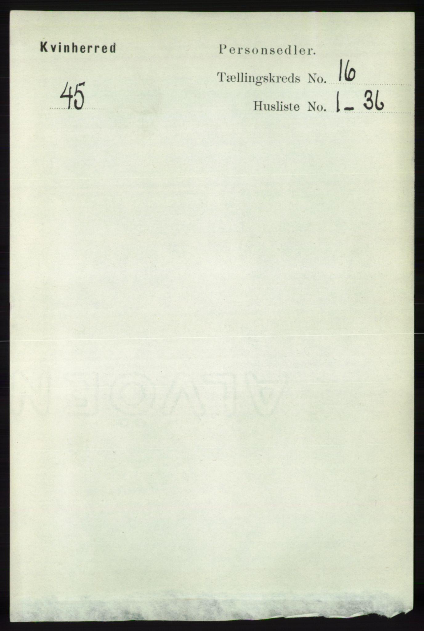 RA, Folketelling 1891 for 1224 Kvinnherad herred, 1891, s. 5442