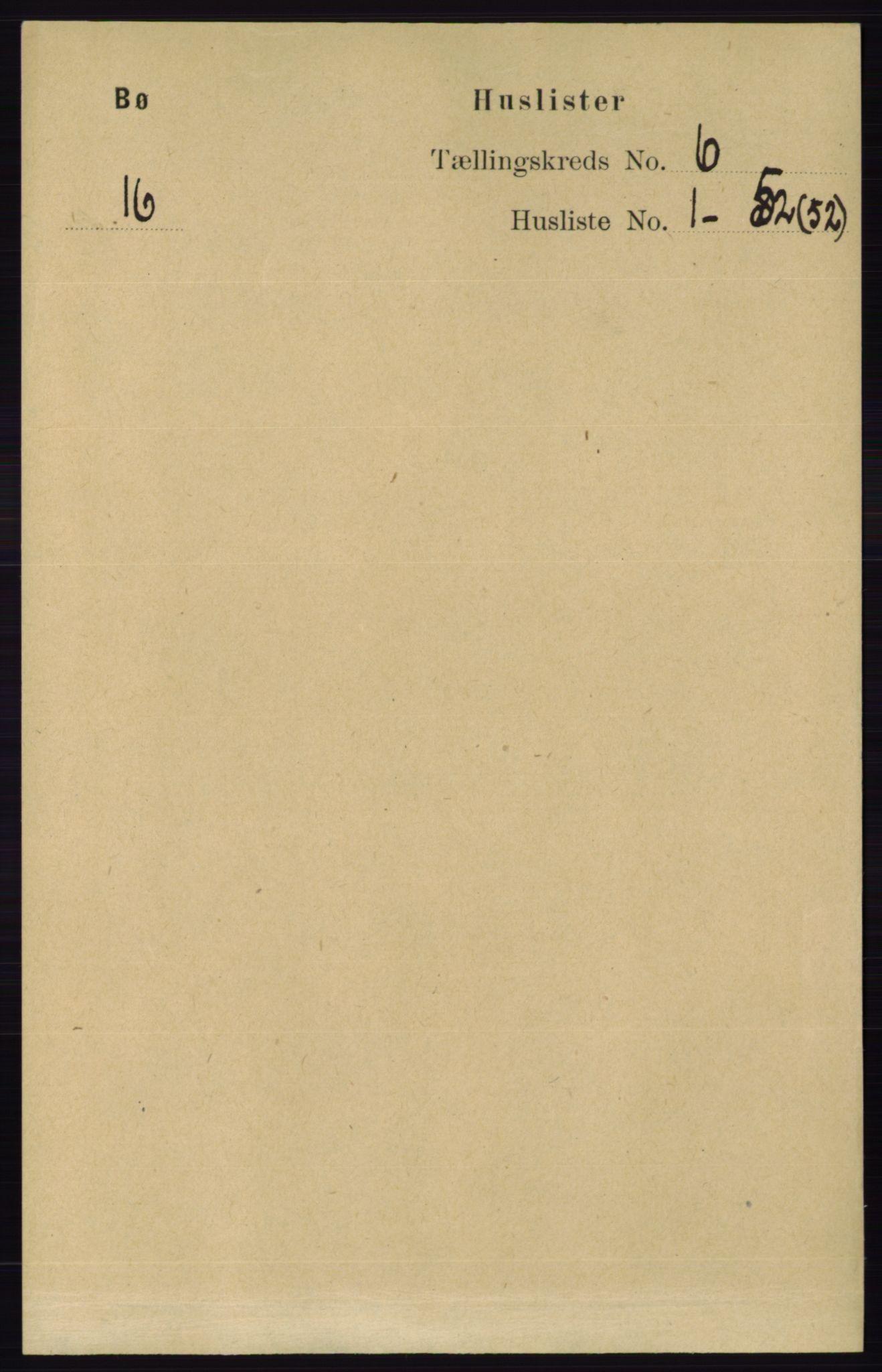RA, Folketelling 1891 for 0821 Bø herred, 1891, s. 1837
