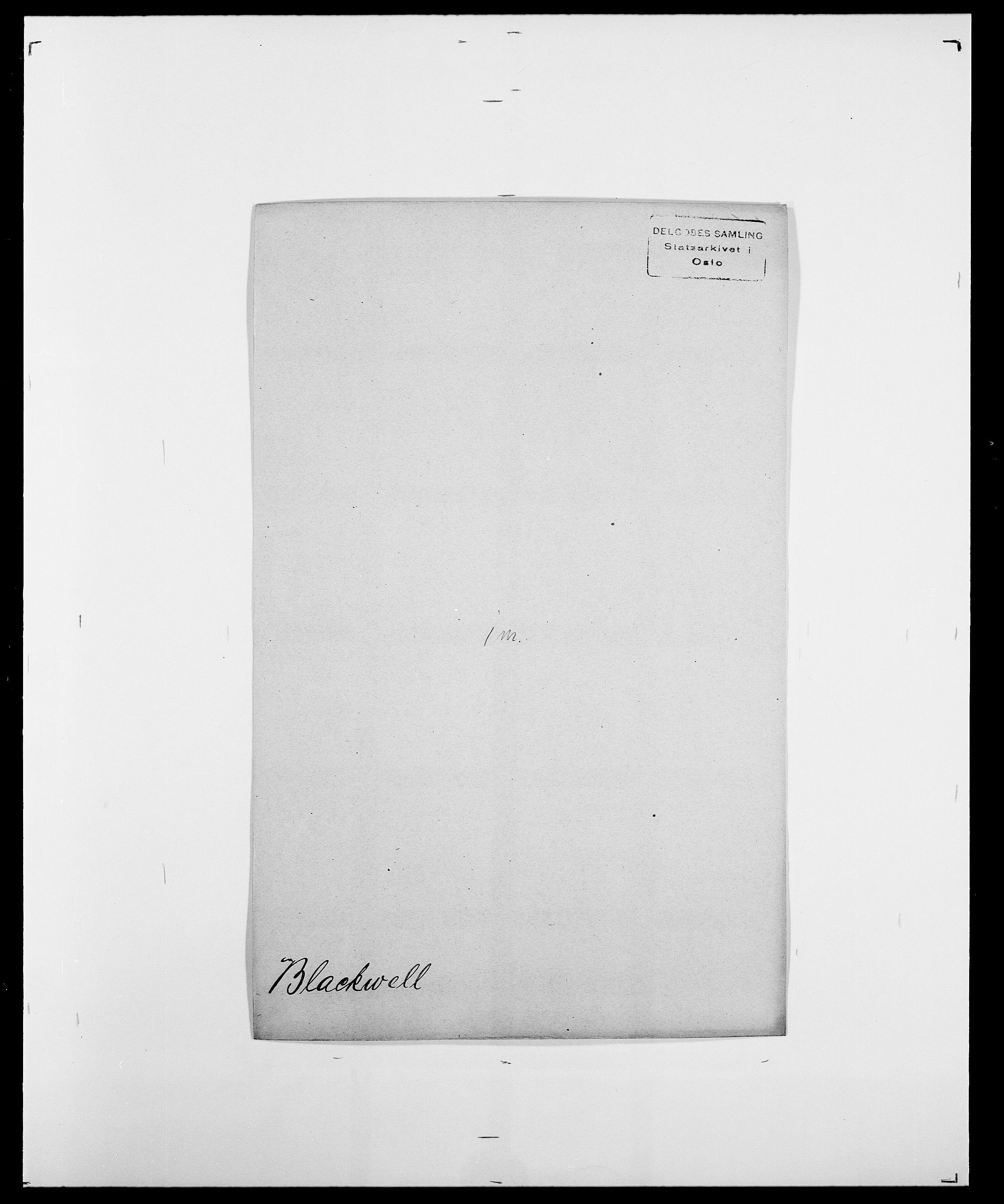 SAO, Delgobe, Charles Antoine - samling, D/Da/L0004: Bergendahl - Blære, s. 517