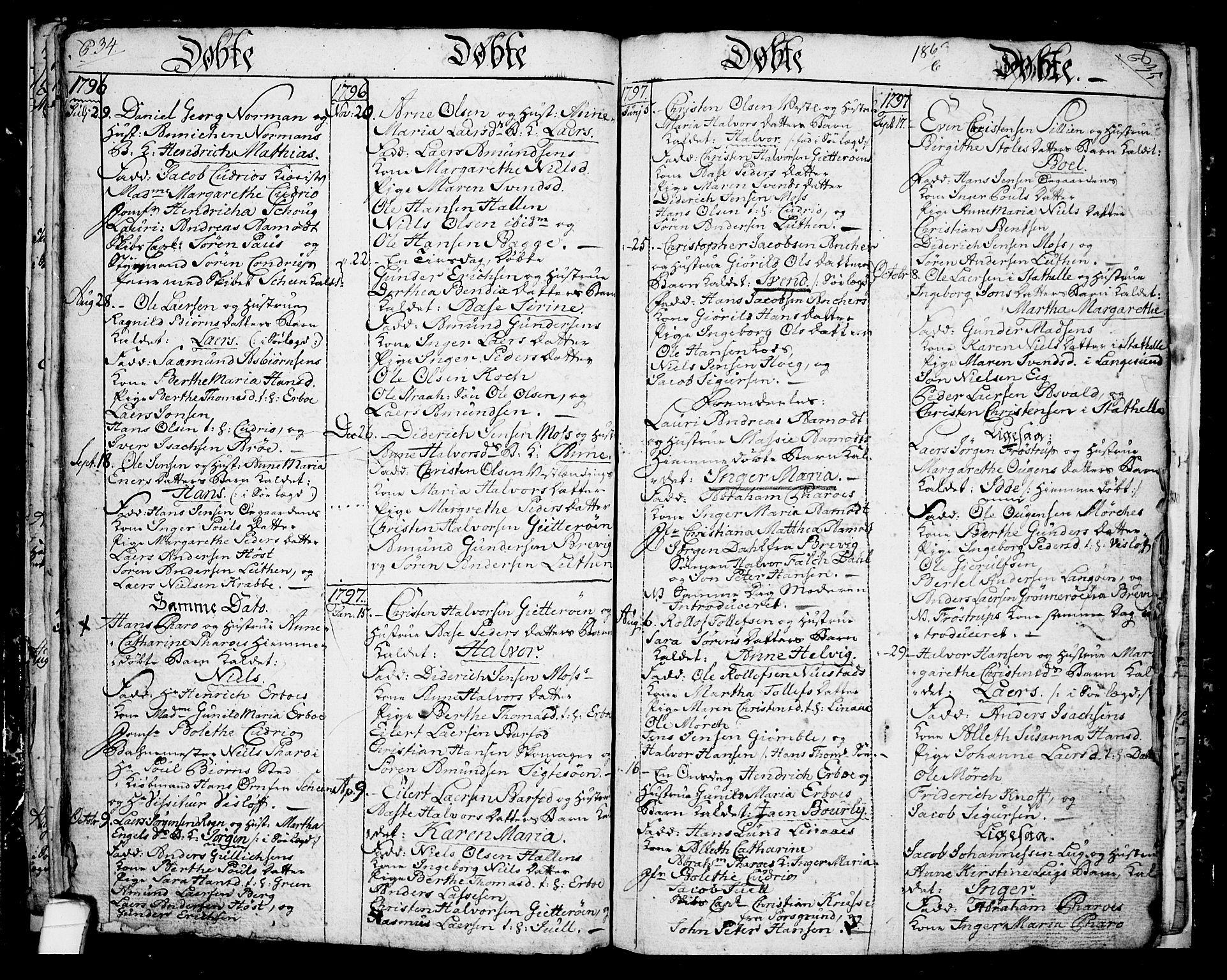 SAKO, Langesund kirkebøker, G/Ga/L0001: Klokkerbok nr. 1, 1783-1801, s. 34-35