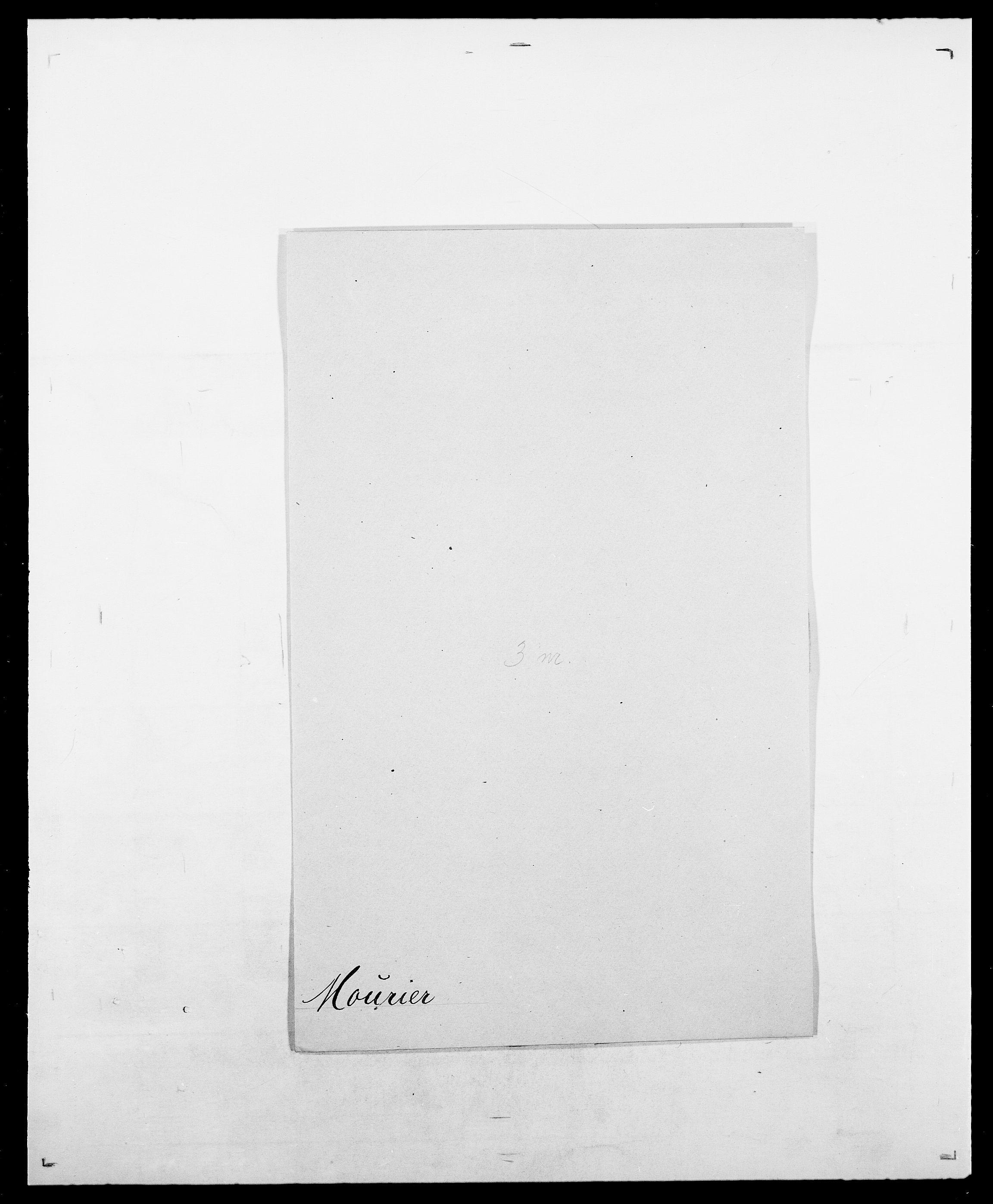 SAO, Delgobe, Charles Antoine - samling, D/Da/L0027: Morath - v. Møsting, s. 88