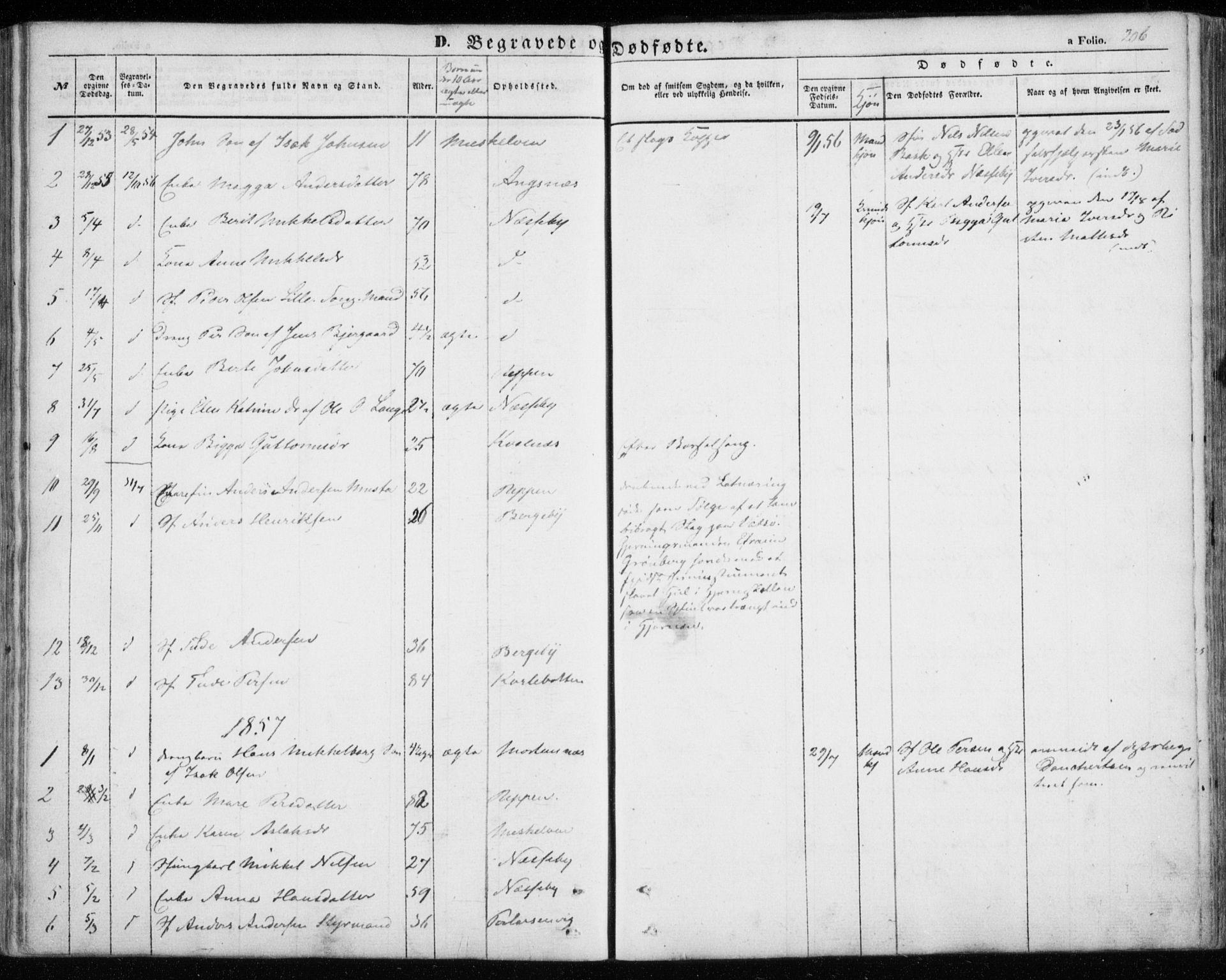 SATØ, Nesseby sokneprestkontor, H/Ha/L0002kirke: Ministerialbok nr. 2, 1856-1864, s. 206