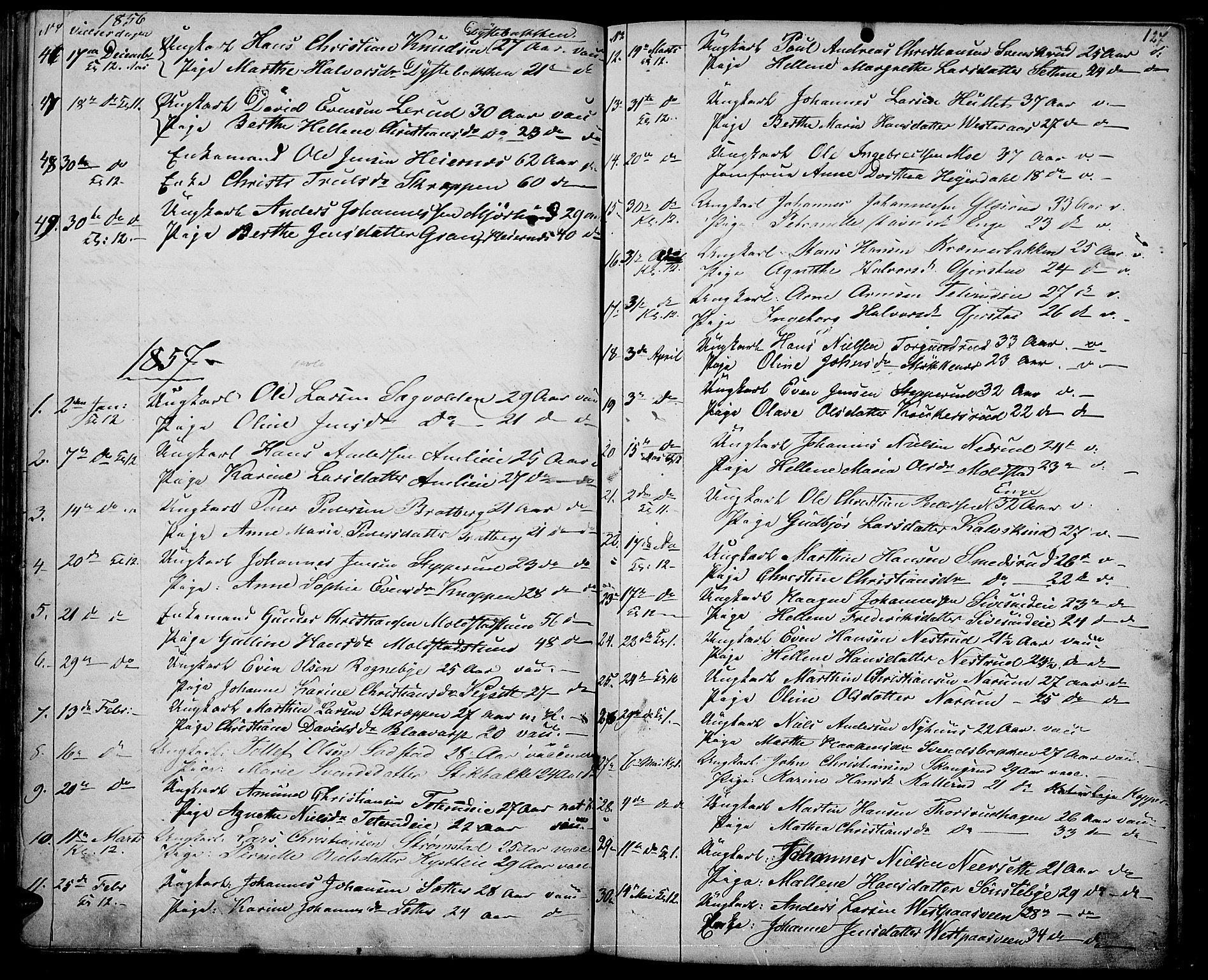 SAH, Vestre Toten prestekontor, H/Ha/Hab/L0005: Klokkerbok nr. 5, 1854-1870, s. 127