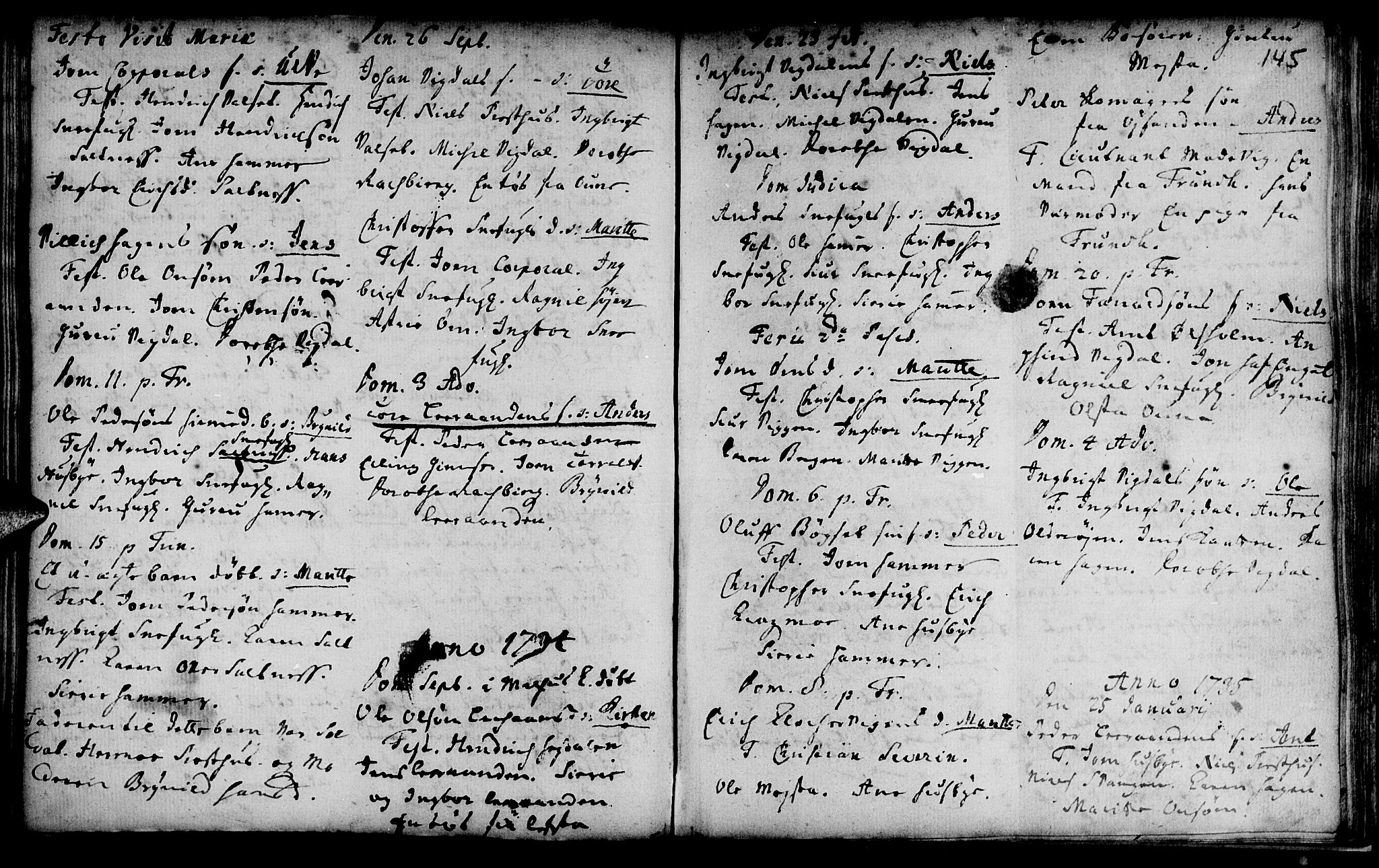 SAT, Ministerialprotokoller, klokkerbøker og fødselsregistre - Sør-Trøndelag, 666/L0783: Ministerialbok nr. 666A01, 1702-1753, s. 145