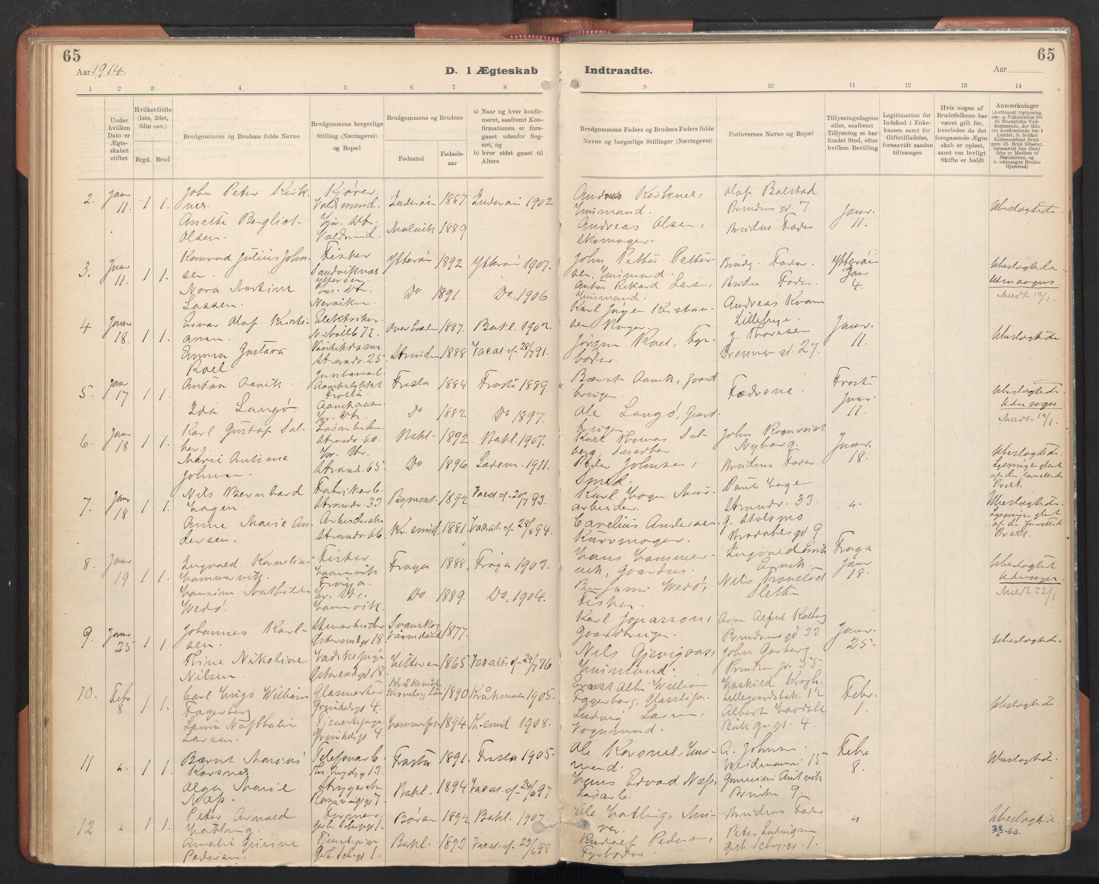 SAT, Ministerialprotokoller, klokkerbøker og fødselsregistre - Sør-Trøndelag, 605/L0244: Ministerialbok nr. 605A06, 1908-1954, s. 65