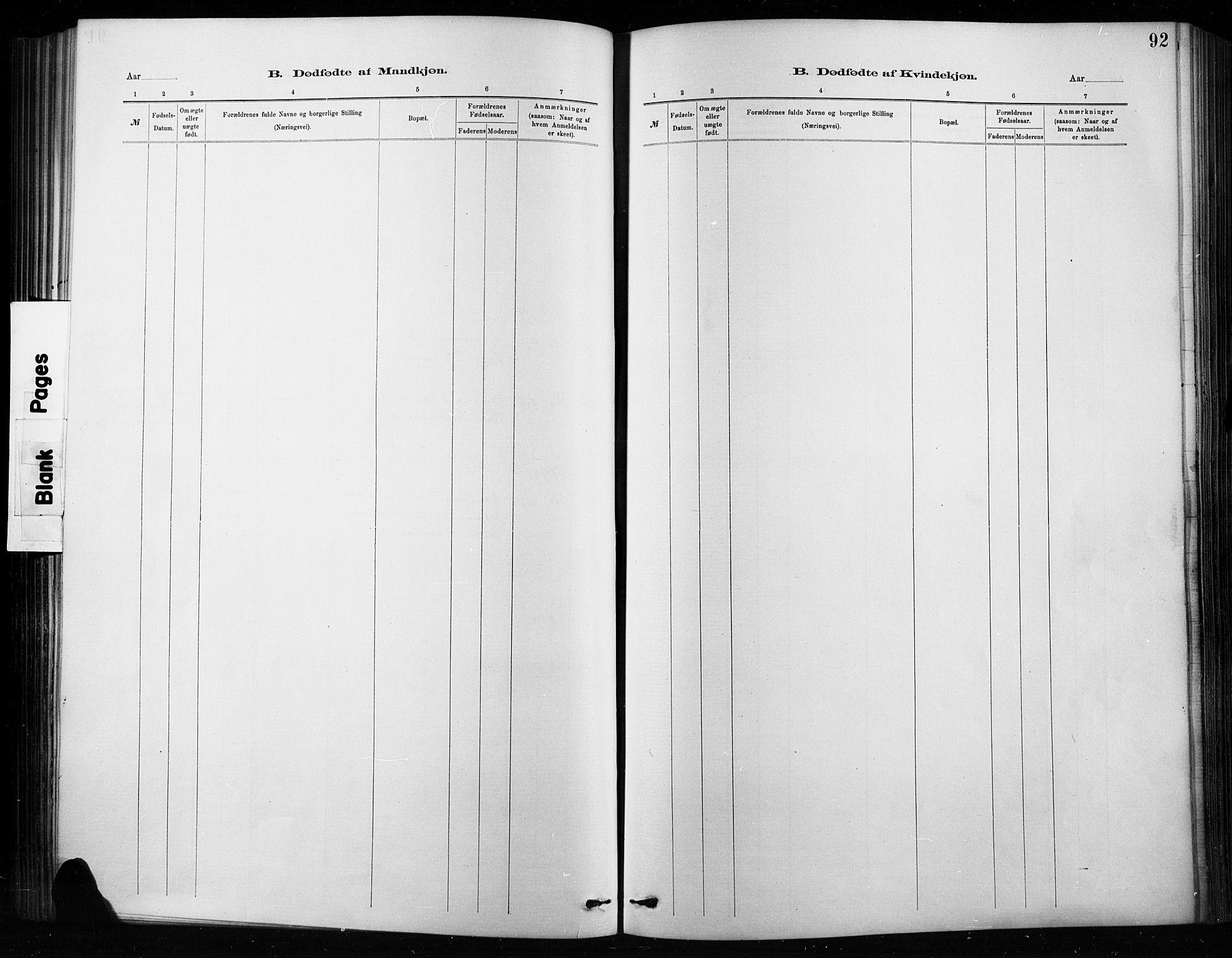 SAH, Nordre Land prestekontor, Ministerialbok nr. 4, 1882-1896, s. 92