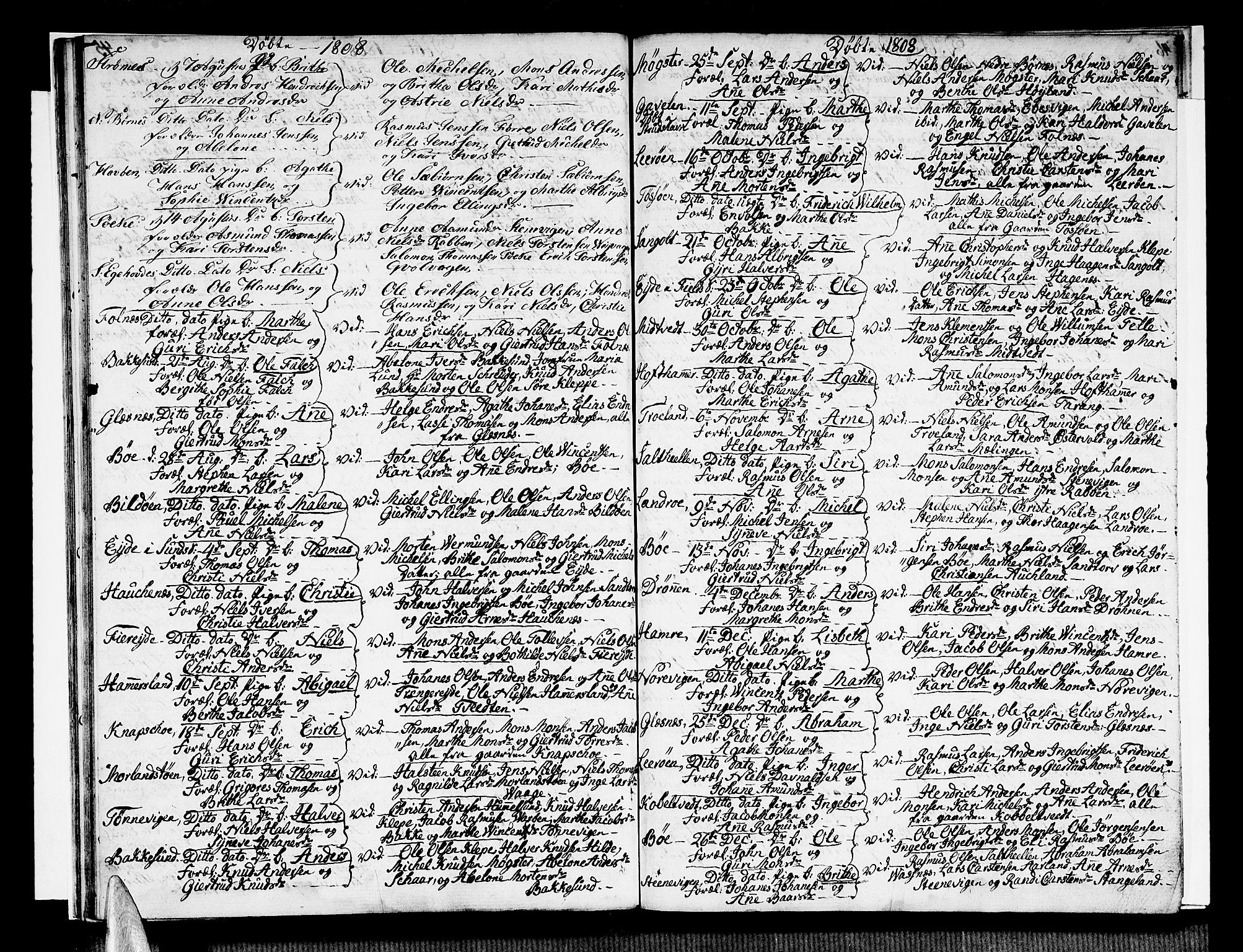 SAB, Sund sokneprestembete, Ministerialbok nr. A 10, 1804-1818, s. 48-49