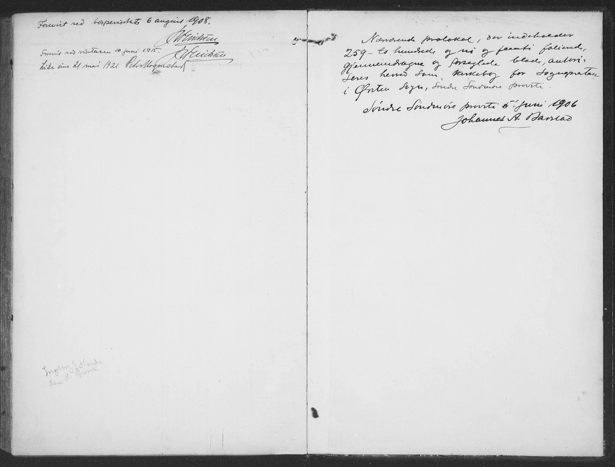 SAT, Ministerialprotokoller, klokkerbøker og fødselsregistre - Møre og Romsdal, 513/L0178: Ministerialbok nr. 513A05, 1906-1919