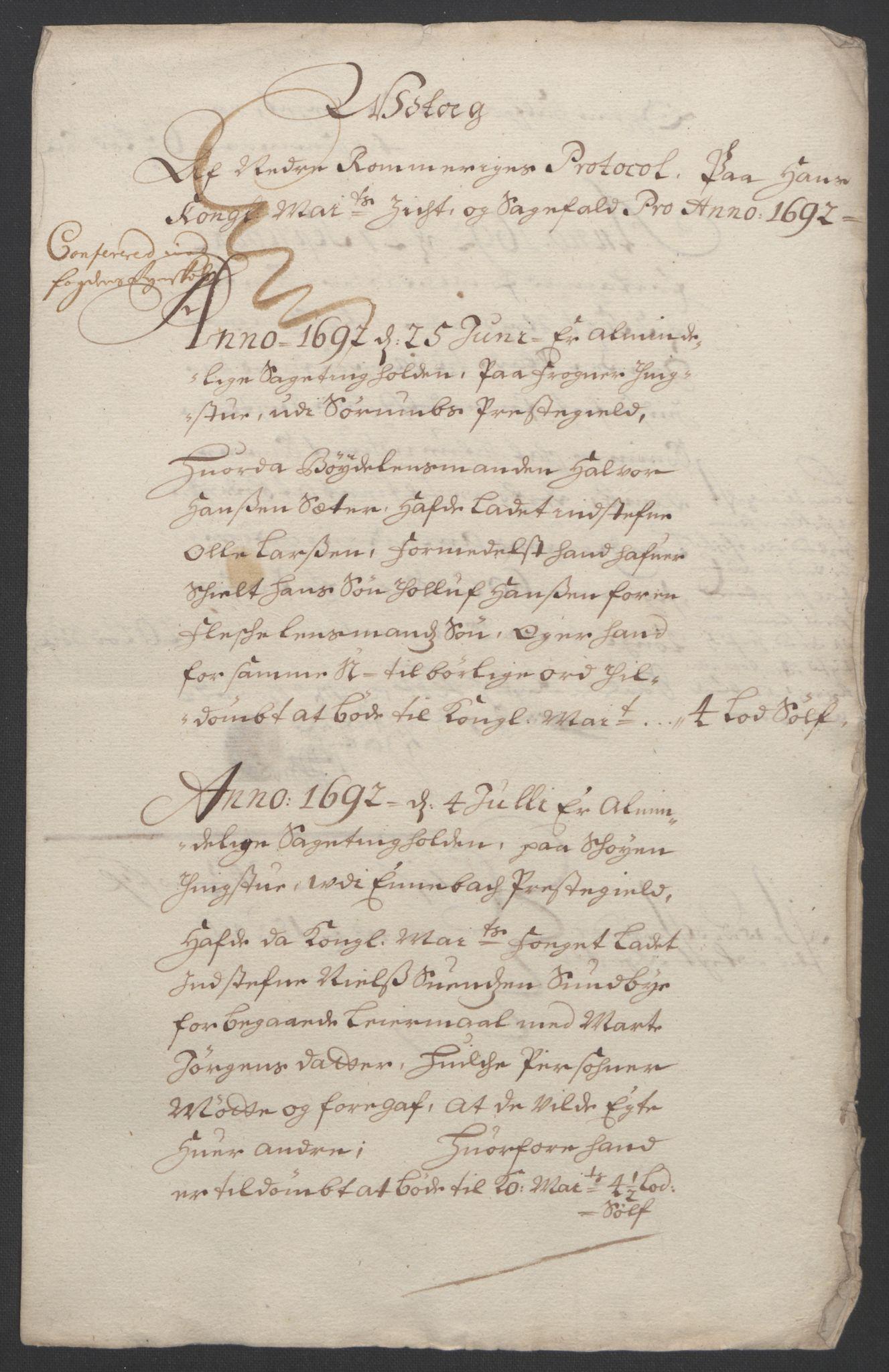 RA, Rentekammeret inntil 1814, Reviderte regnskaper, Fogderegnskap, R11/L0577: Fogderegnskap Nedre Romerike, 1692, s. 40