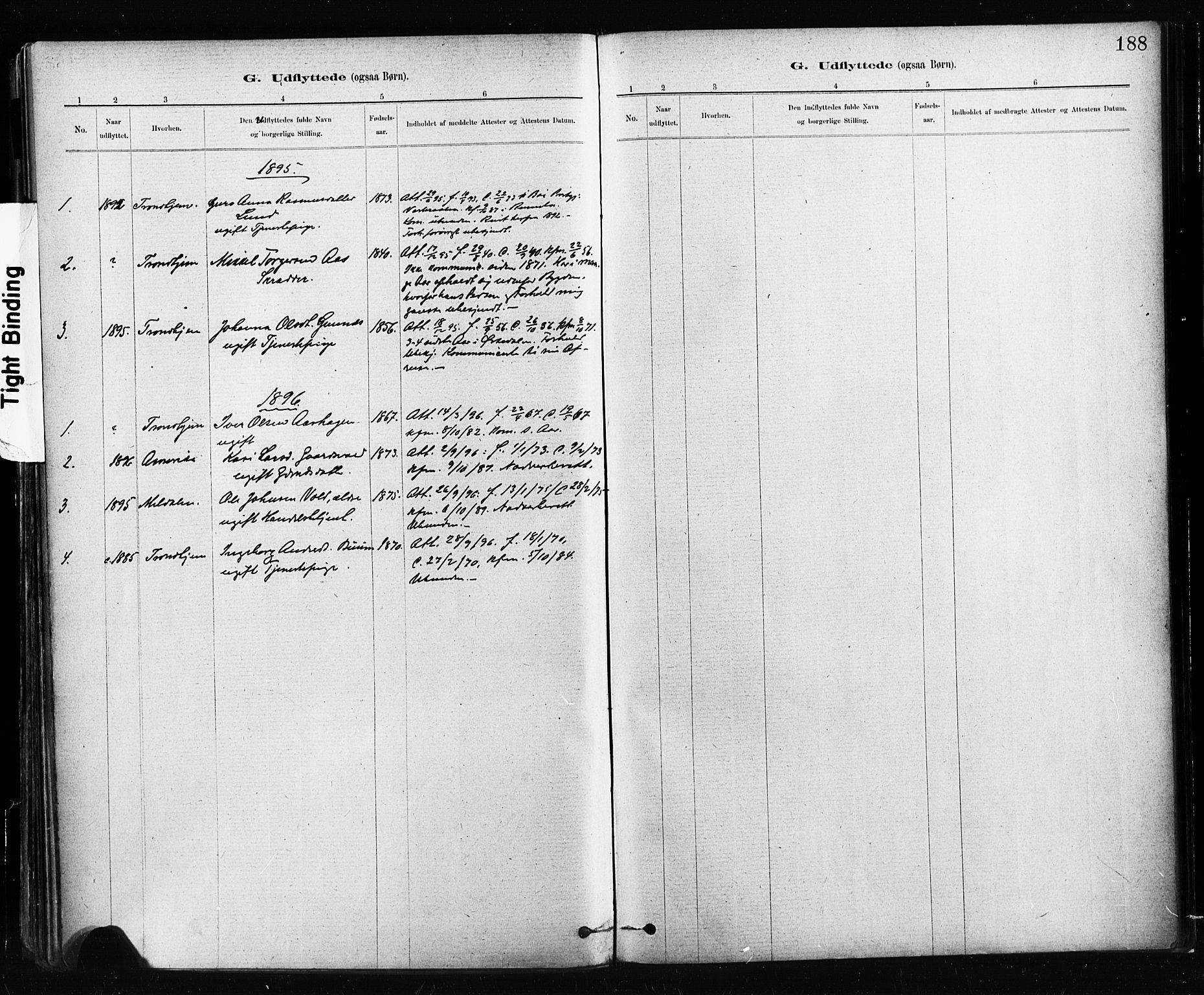 SAT, Ministerialprotokoller, klokkerbøker og fødselsregistre - Sør-Trøndelag, 674/L0871: Ministerialbok nr. 674A03, 1880-1896, s. 188