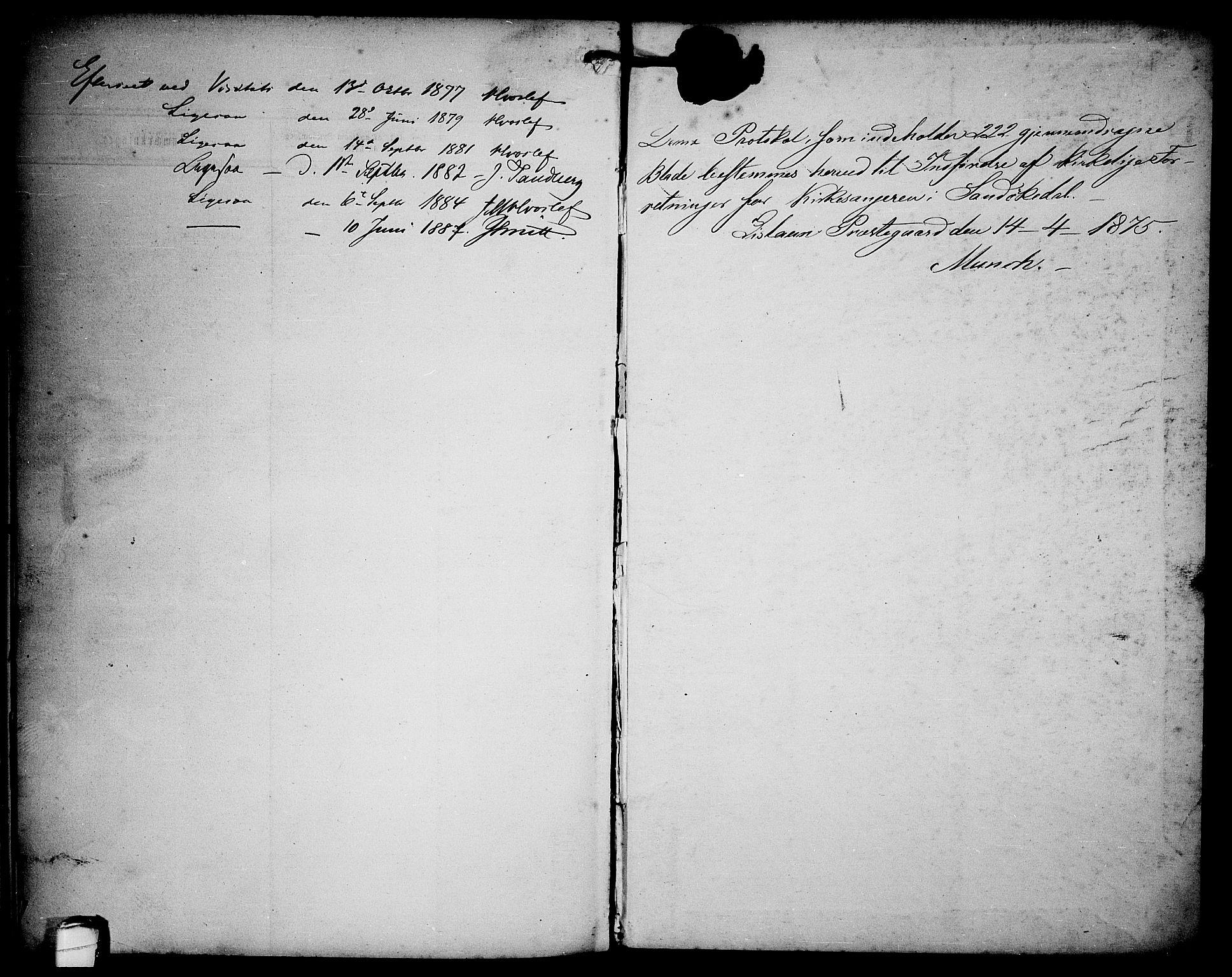 SAKO, Sannidal kirkebøker, G/Ga/L0002: Klokkerbok nr. 2, 1875-1886