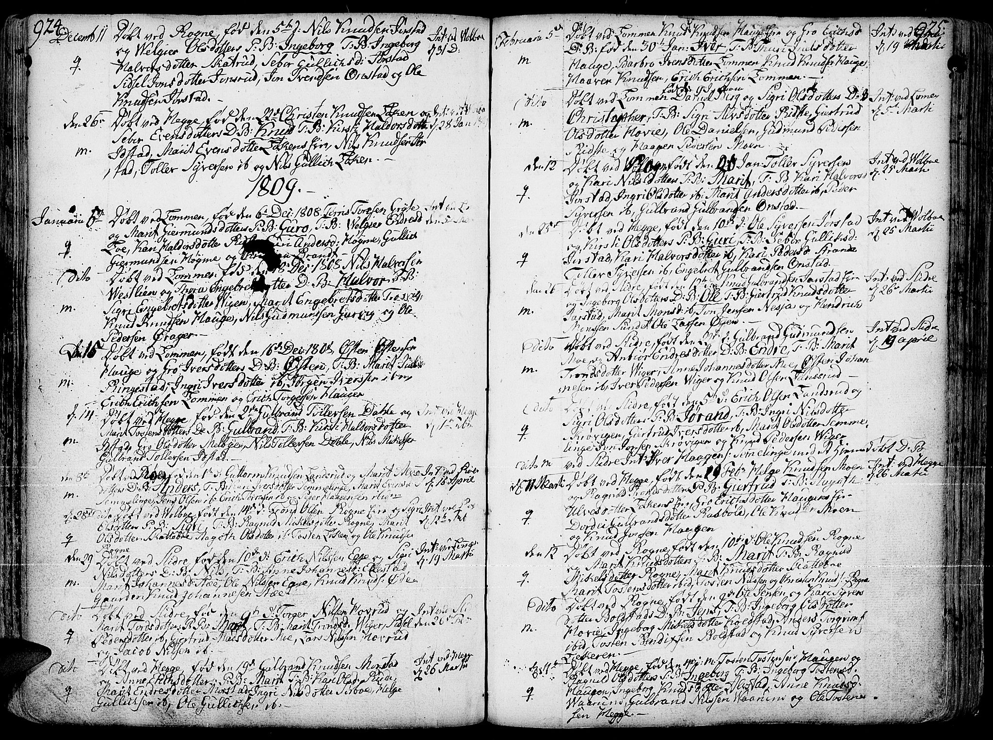 SAH, Slidre prestekontor, Ministerialbok nr. 1, 1724-1814, s. 924-925