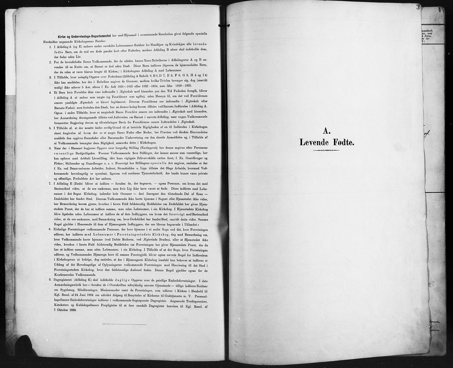 SAH, Ringebu prestekontor, Klokkerbok nr. 8, 1890-1922, s. 3