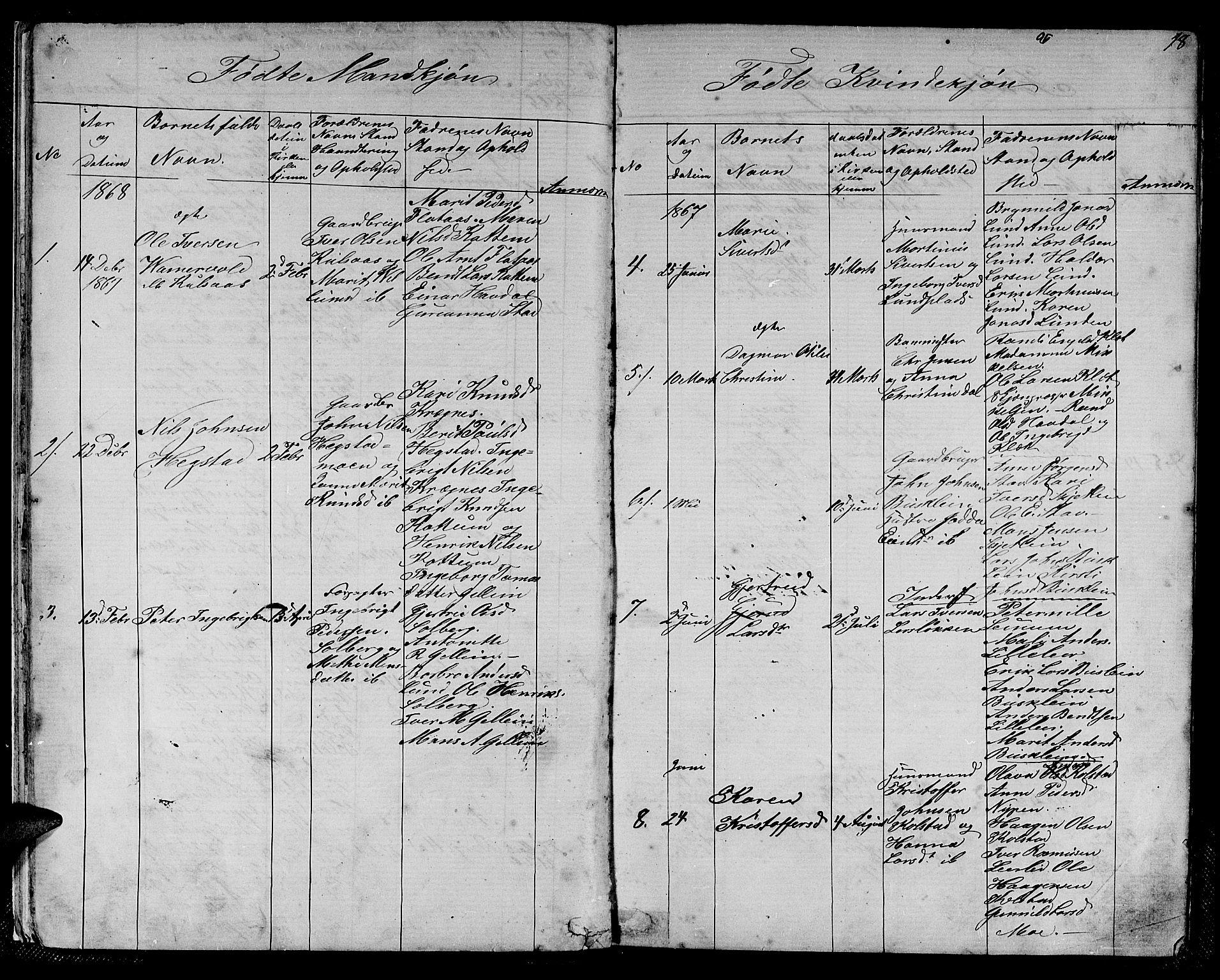 SAT, Ministerialprotokoller, klokkerbøker og fødselsregistre - Sør-Trøndelag, 613/L0394: Klokkerbok nr. 613C02, 1862-1886, s. 18