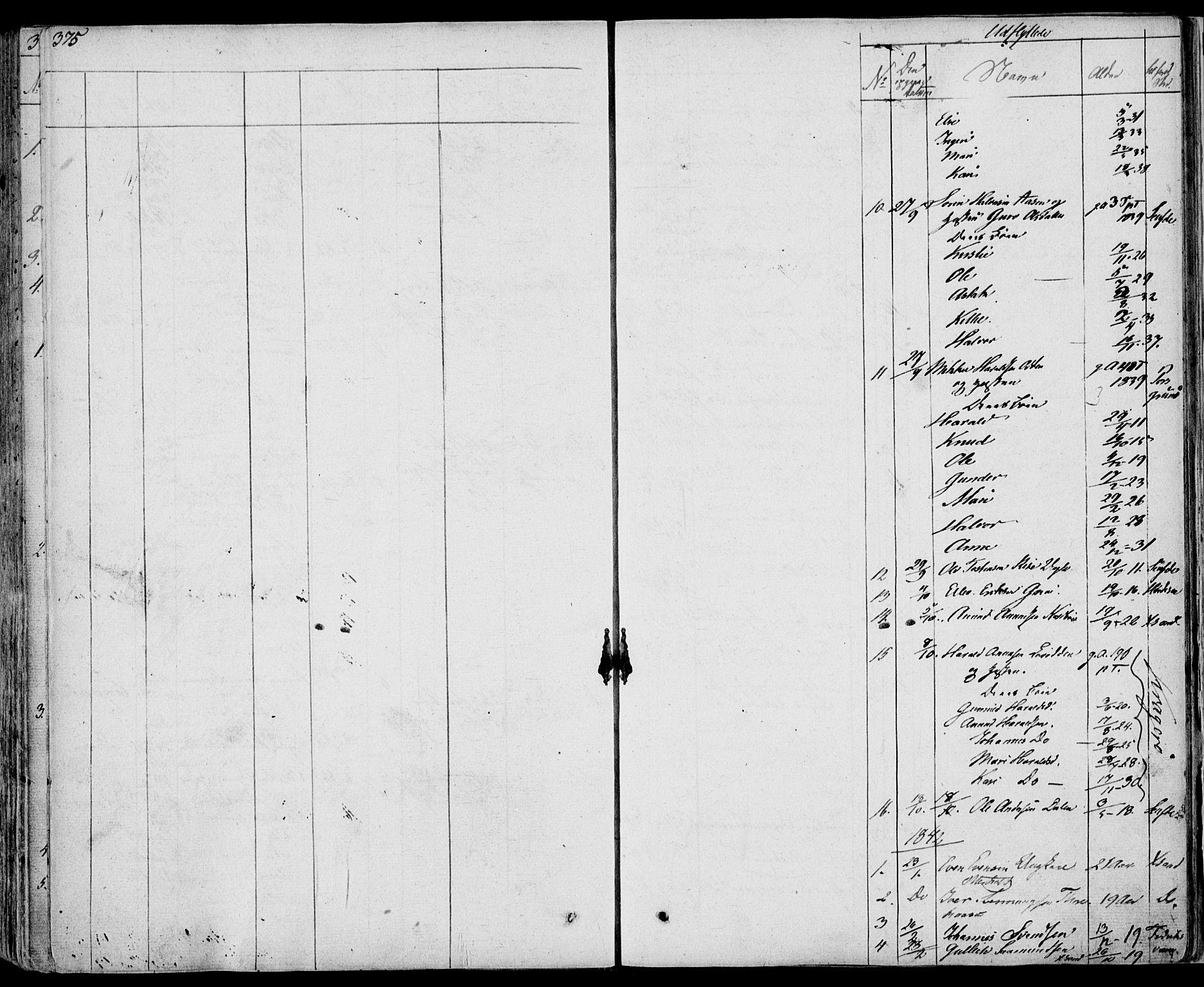 SAKO, Bø kirkebøker, F/Fa/L0007: Ministerialbok nr. 7, 1831-1848, s. 375