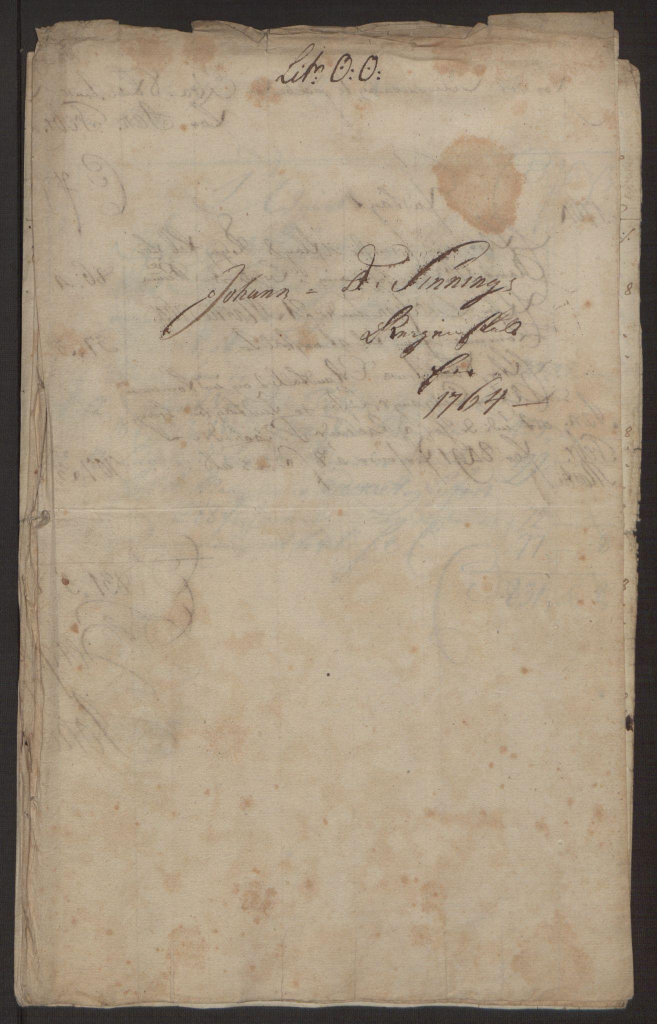 RA, Rentekammeret inntil 1814, Reviderte regnskaper, Byregnskaper, R/Rp/L0368: [P21] Kontribusjonsregnskap, 1764, s. 153