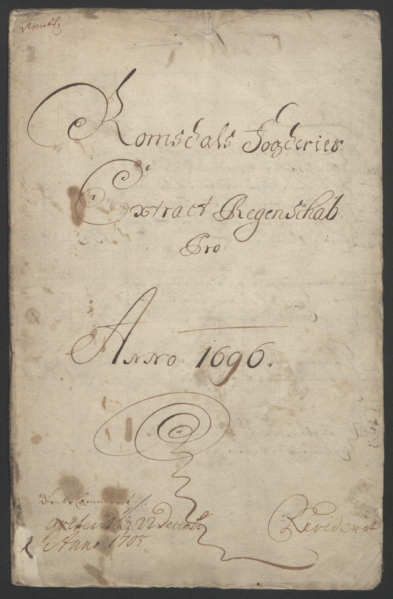 RA, Rentekammeret inntil 1814, Reviderte regnskaper, Fogderegnskap, R55/L3652: Fogderegnskap Romsdal, 1695-1696, s. 157